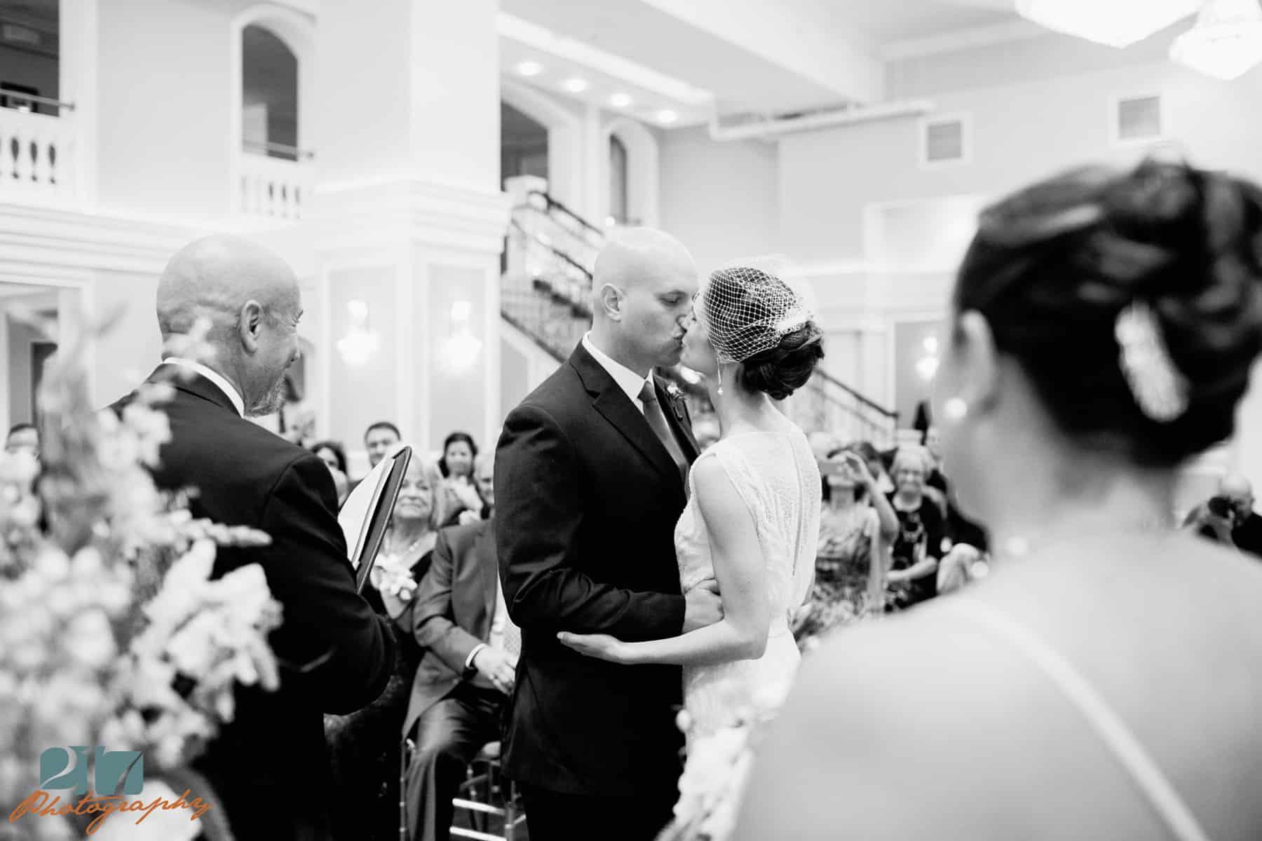 Philadelphia arts ballroom wedding ceremony