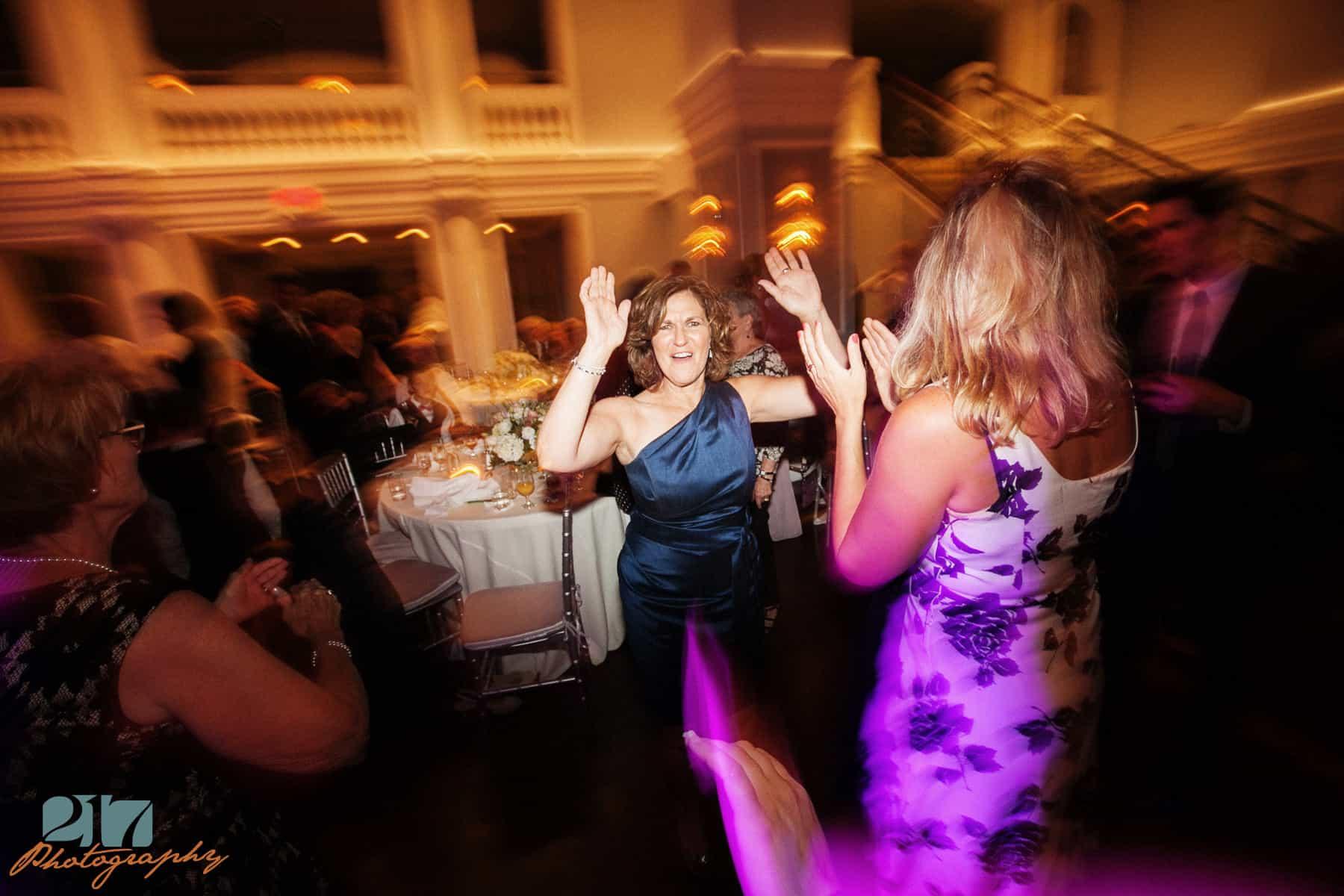 Dancing at Arts Ballroom reception