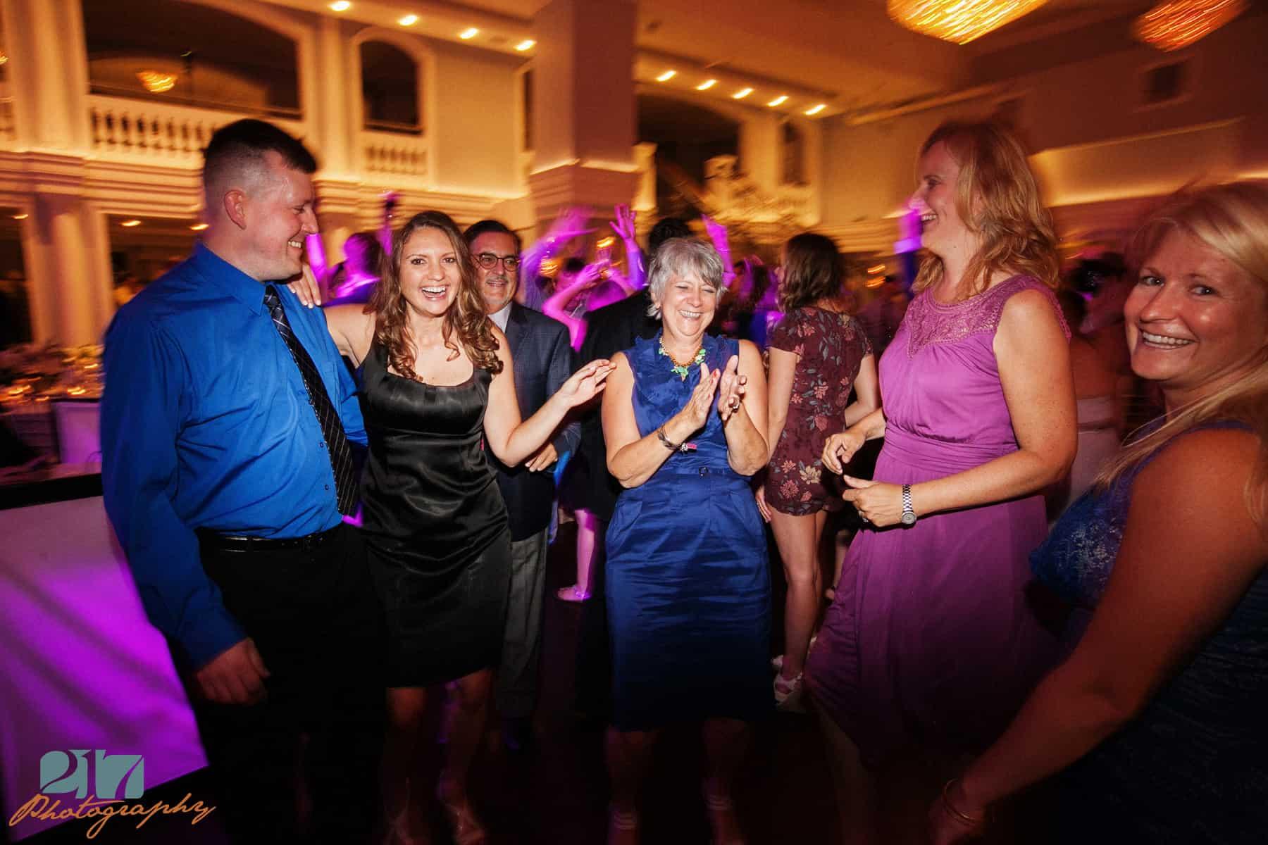 Dancing at Arts Ballroom wedding reception