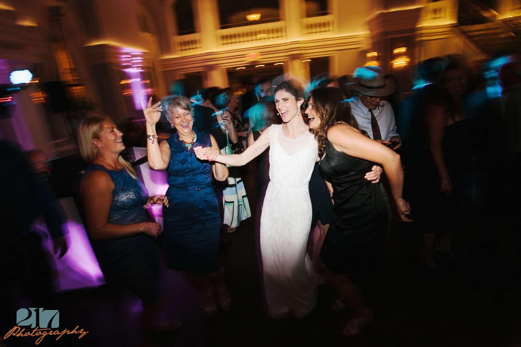 arts ballroom wedding reception