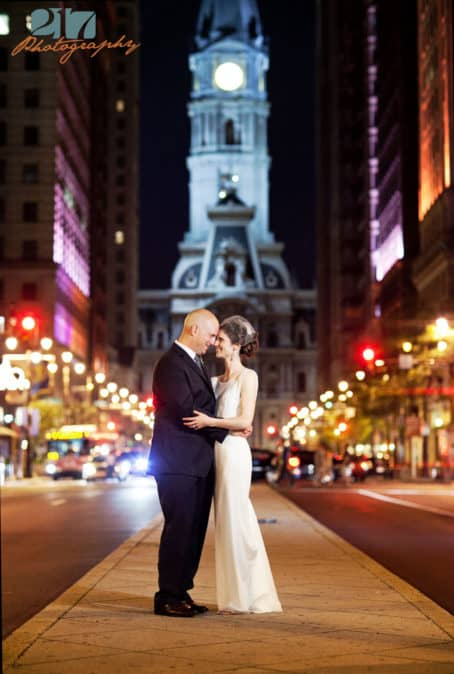 Broad Street Philadelphia Wedding Photo