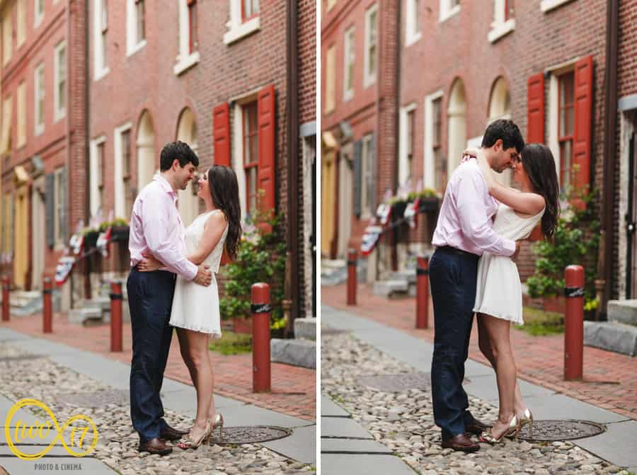 Elfreth's Alley Engagement Photography