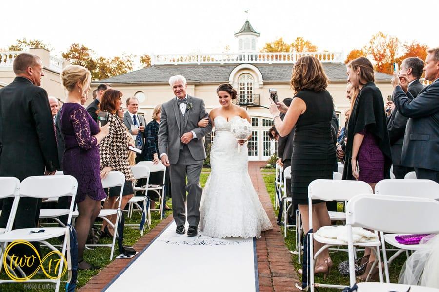 wedding ceremony belle voir manor
