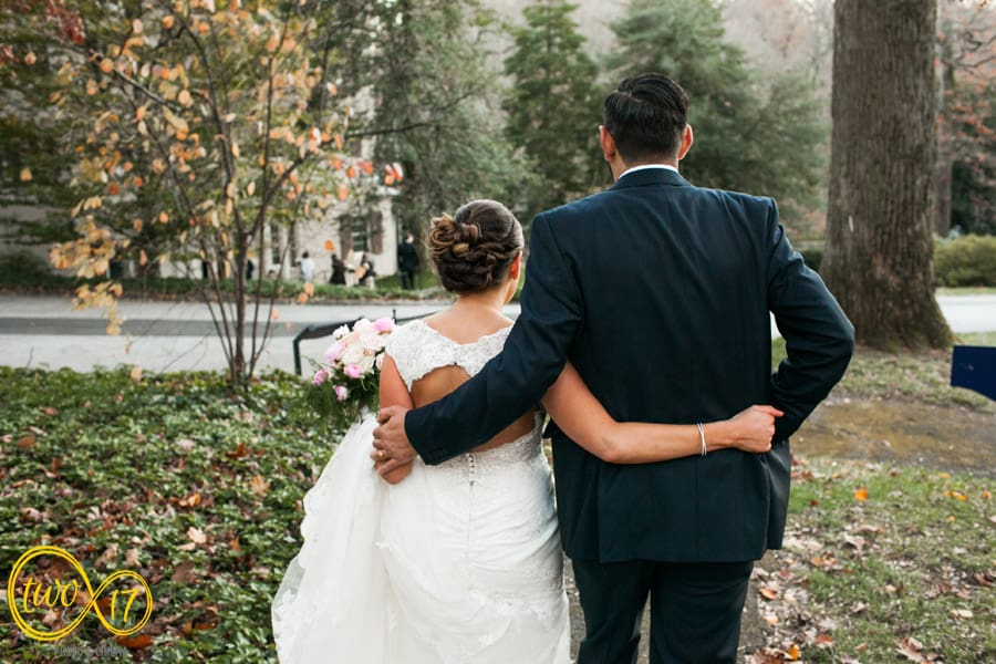 Outdoor wedding ceremony Philadelphia