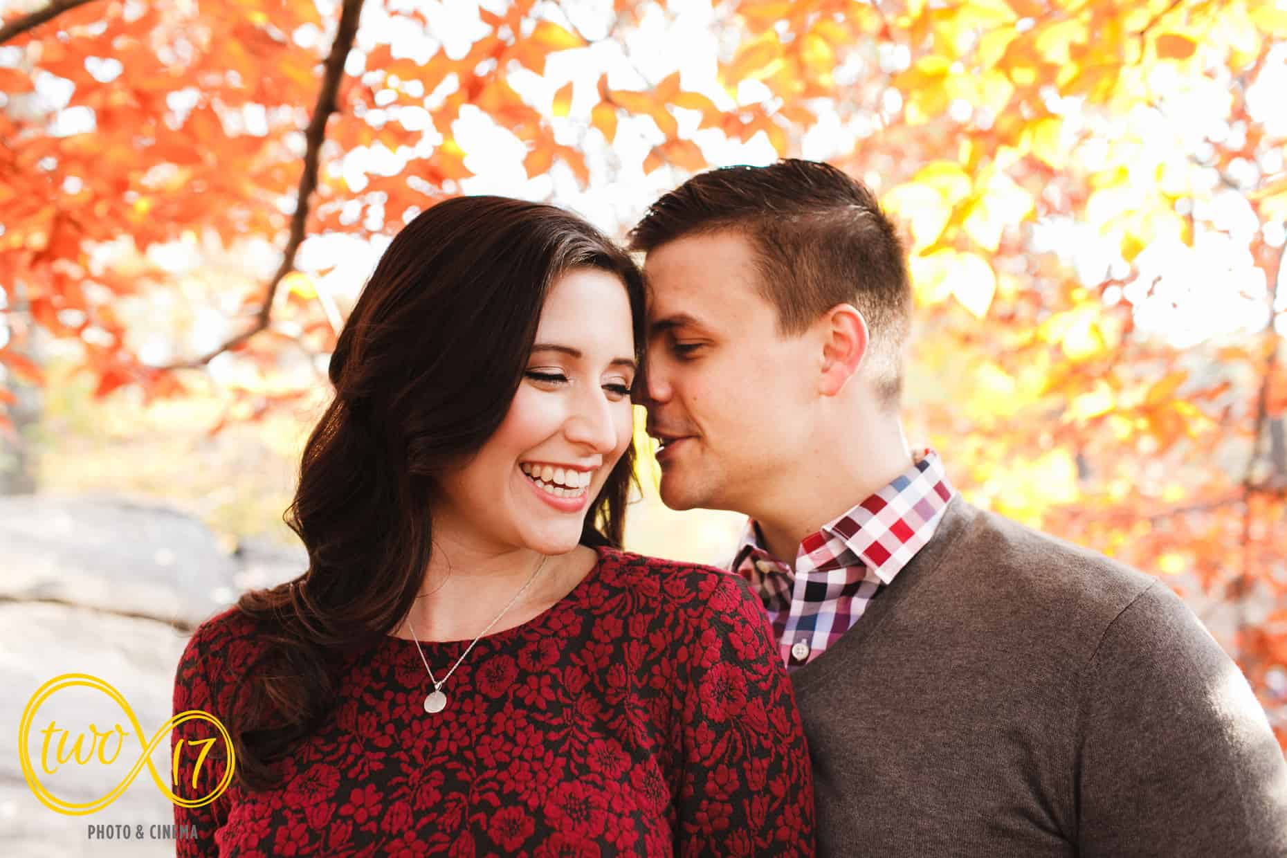 Fall Central Park Engagement Sessions