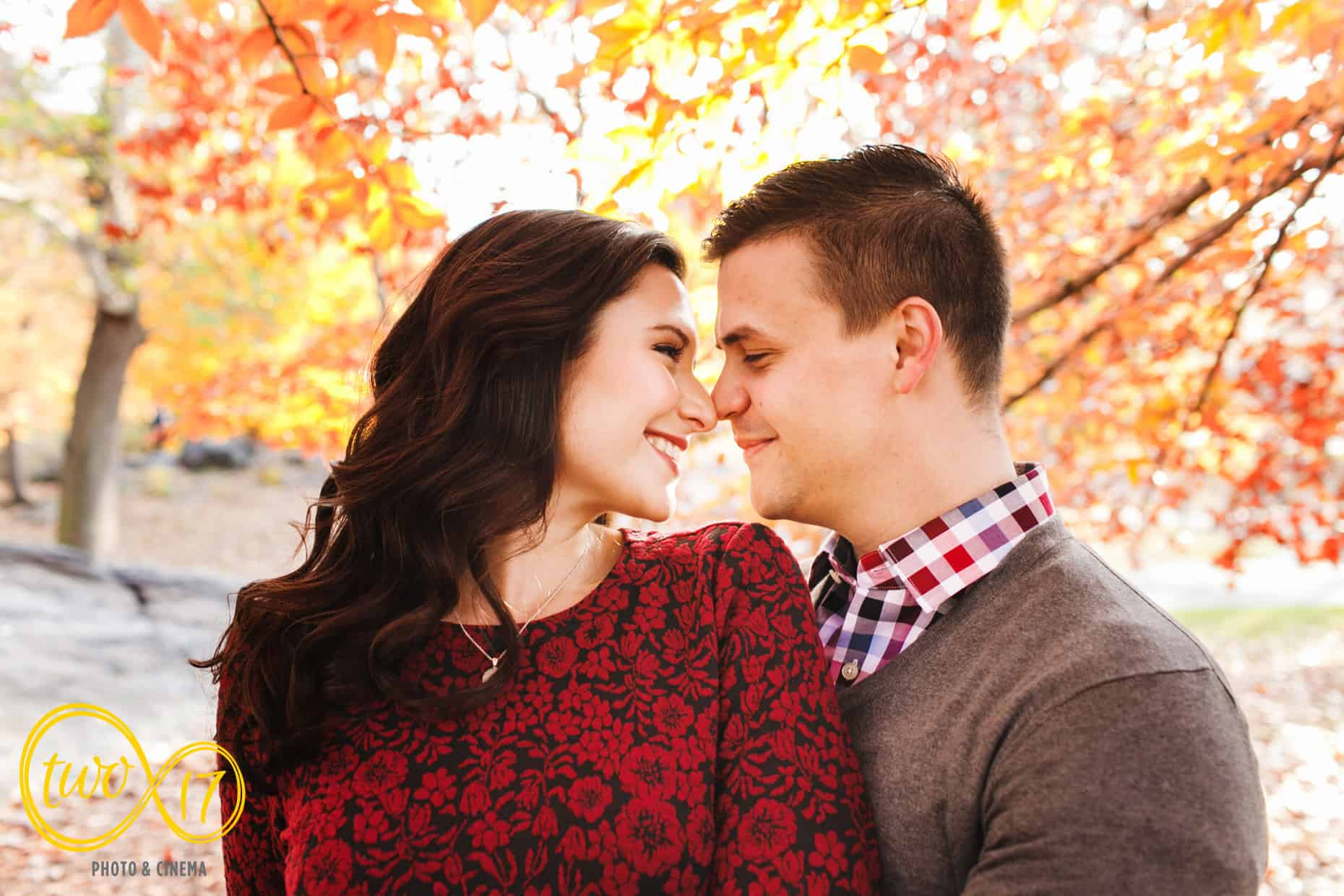 Fall Central Park Engagement Session
