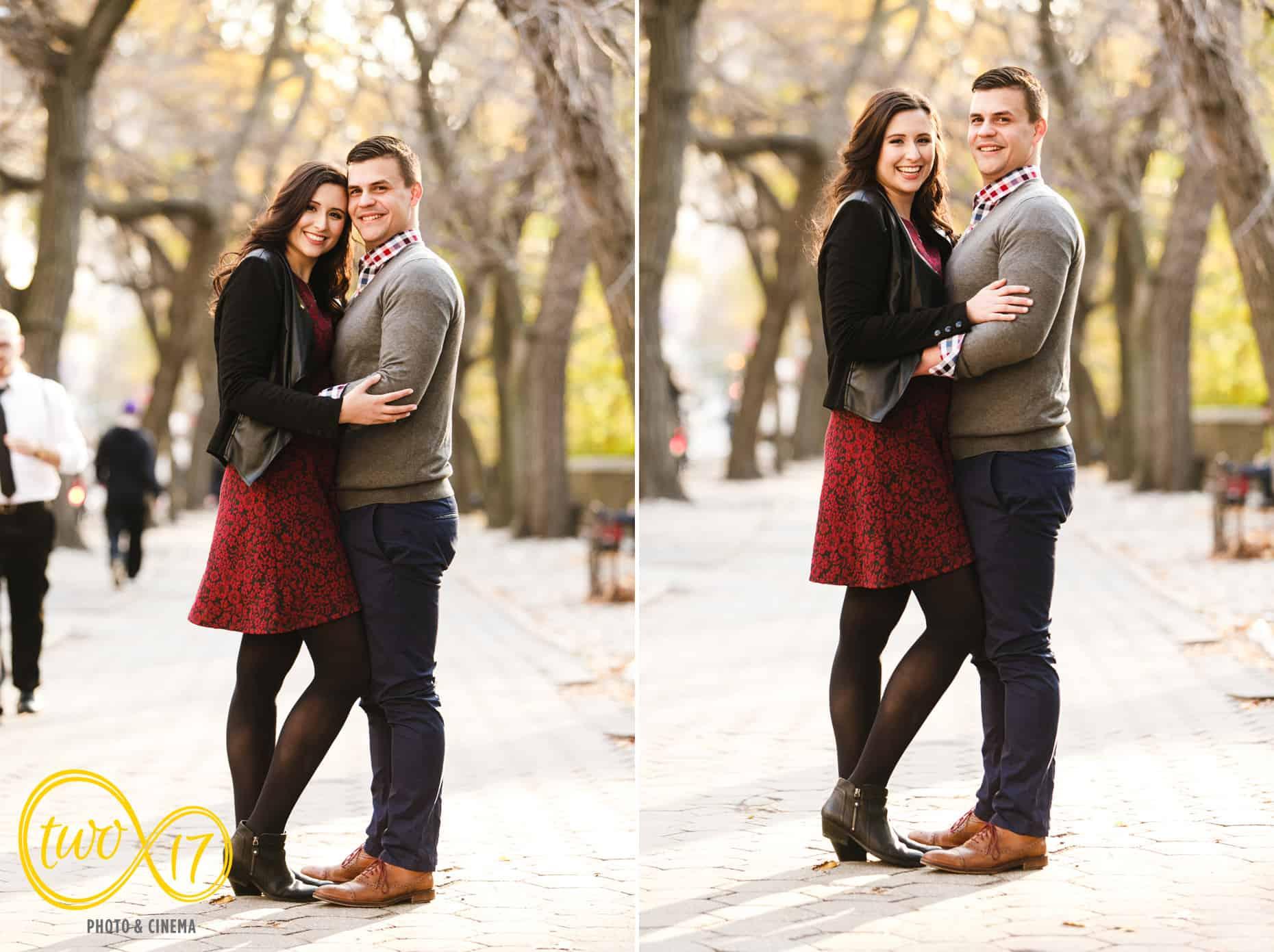 Fall Engagement Photos Central Park