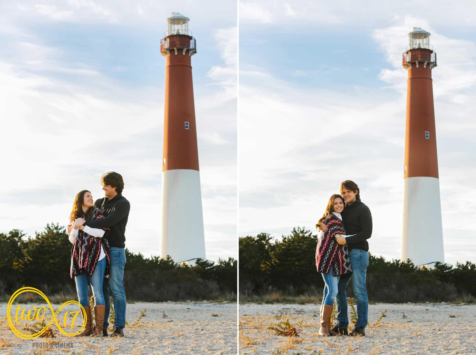 Barnegat Lighthouse engagement session
