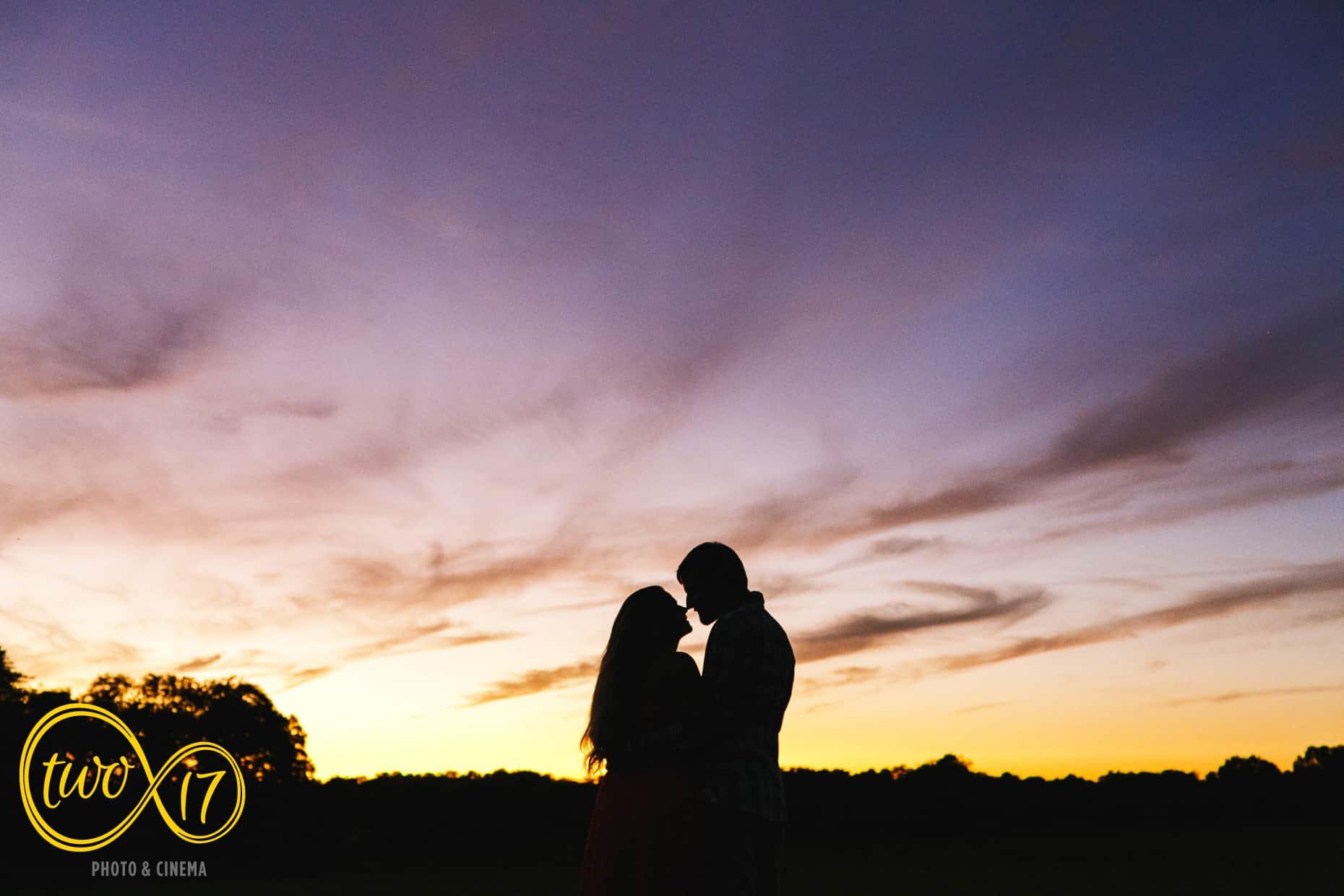 New Jersey Sunset Engagement Photos