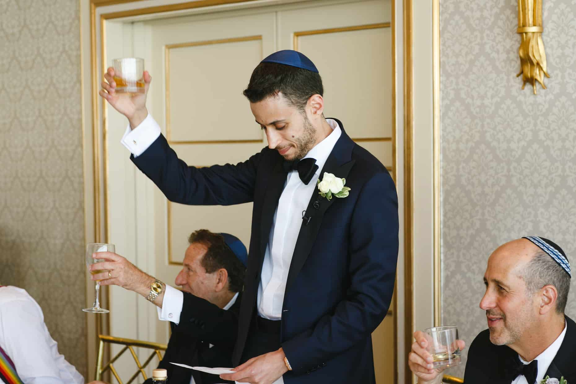 Jewish Wedding Tish Ceremony
