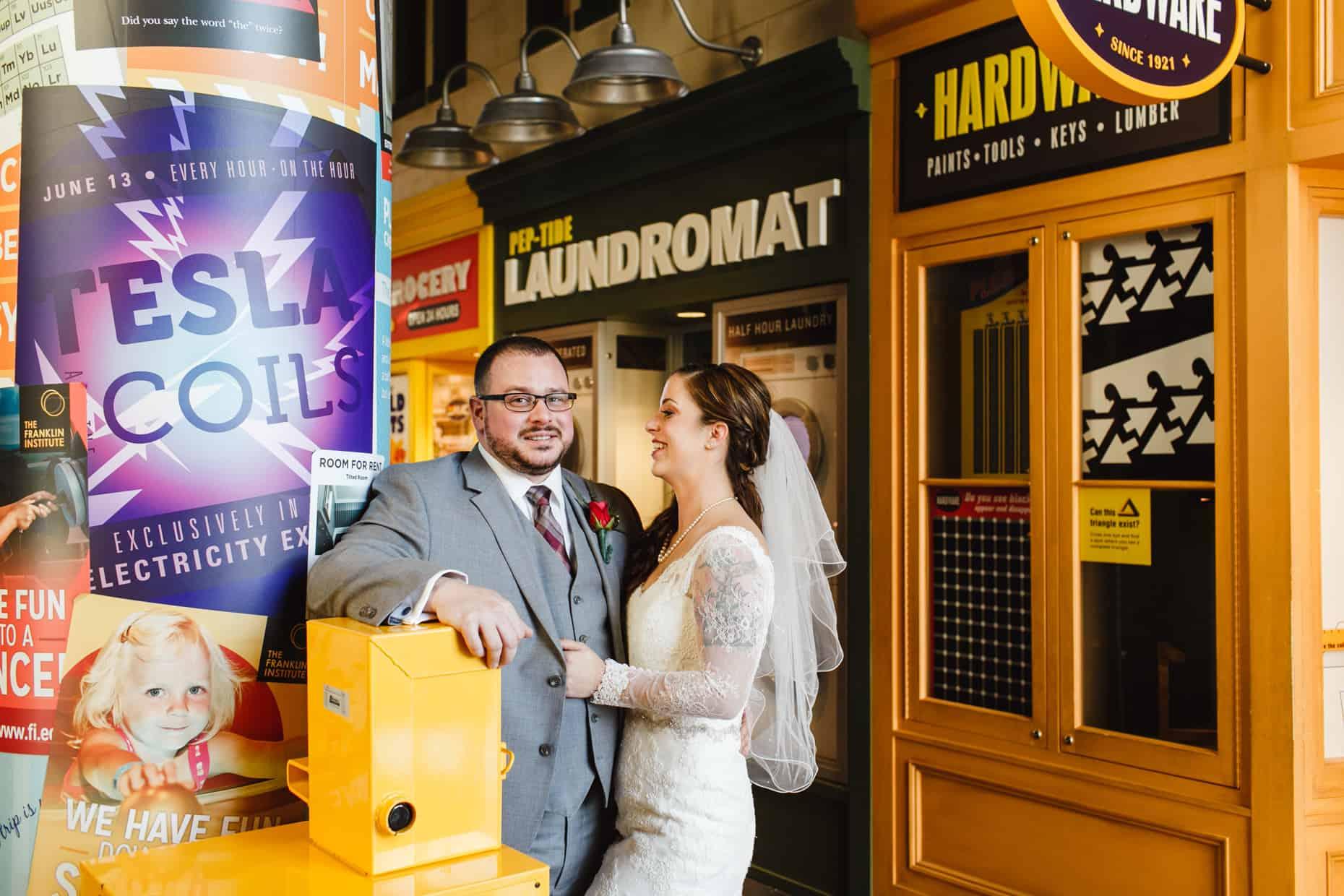 Wedding Photos Franklin Institute