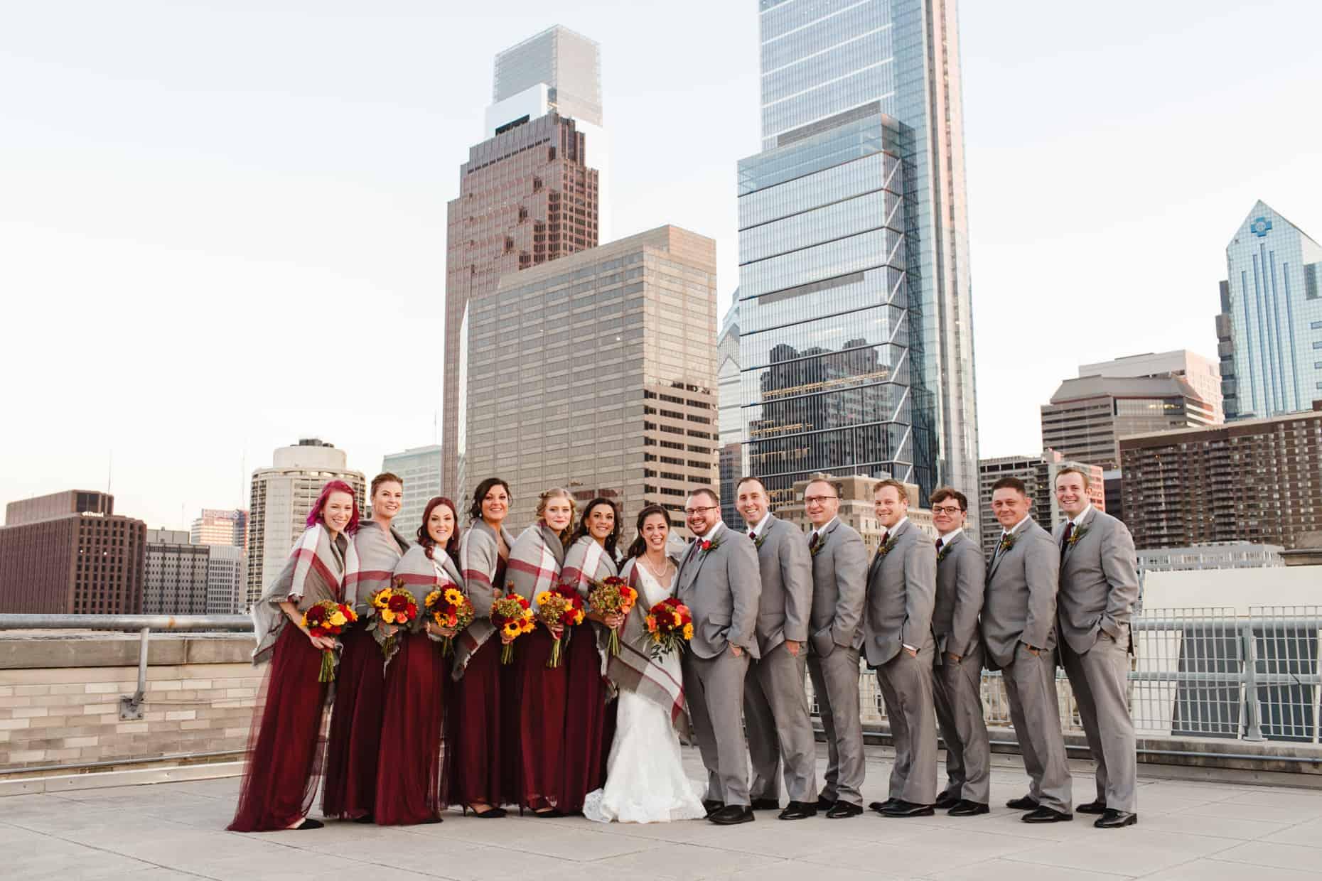 Franklin Institute rooftop Wedding