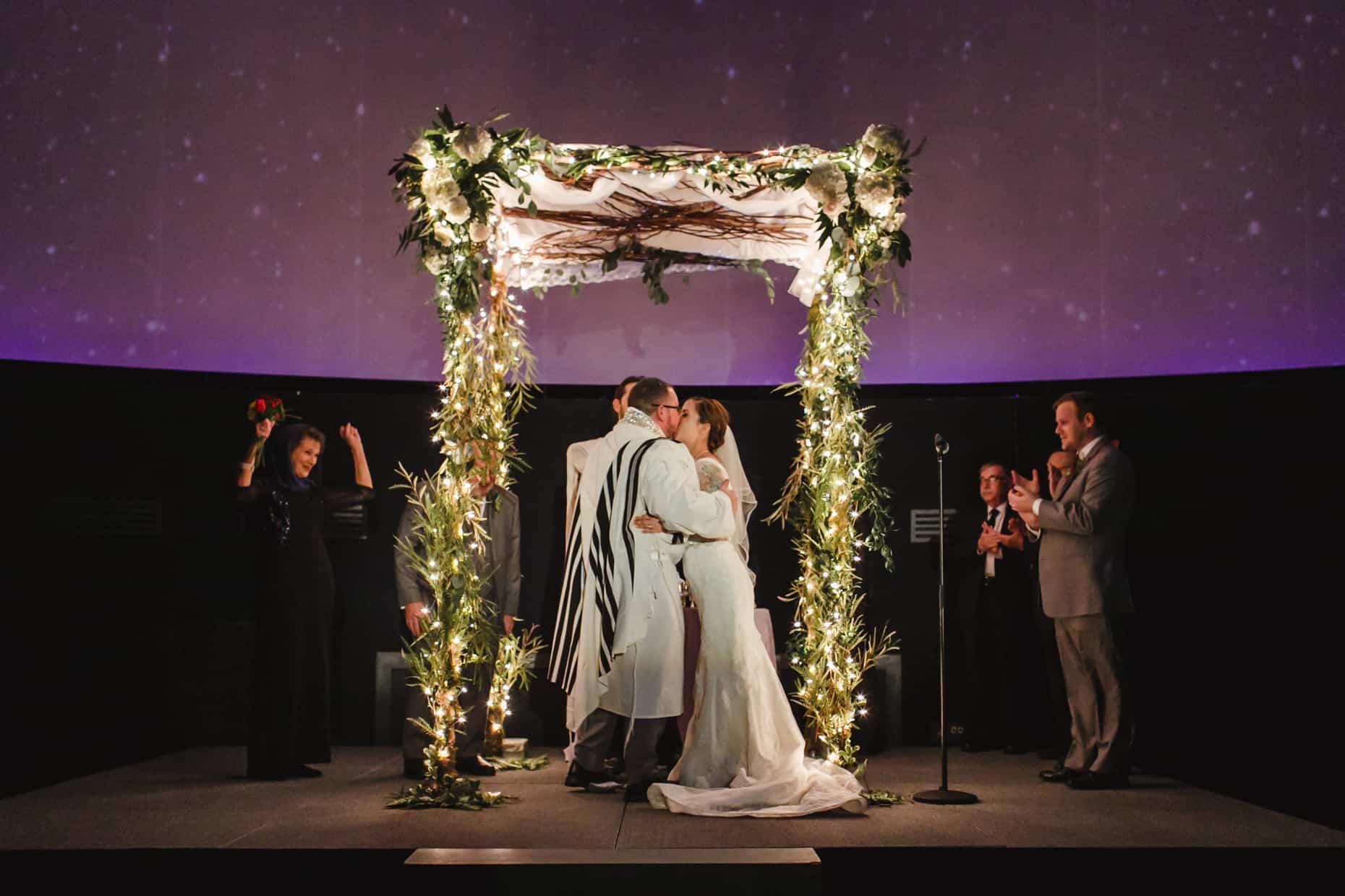 Wedding Ceremony Franklin Institute PLanetarium