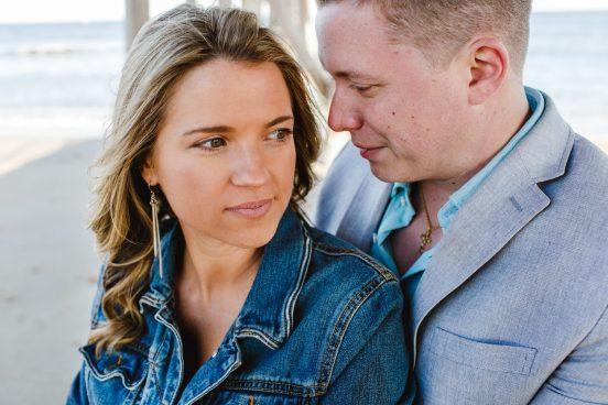 Belmar BEach Engagement Photo