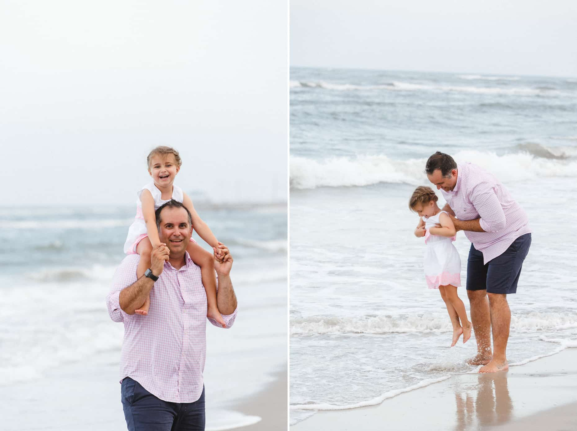 family photos on the beach in New Jersey