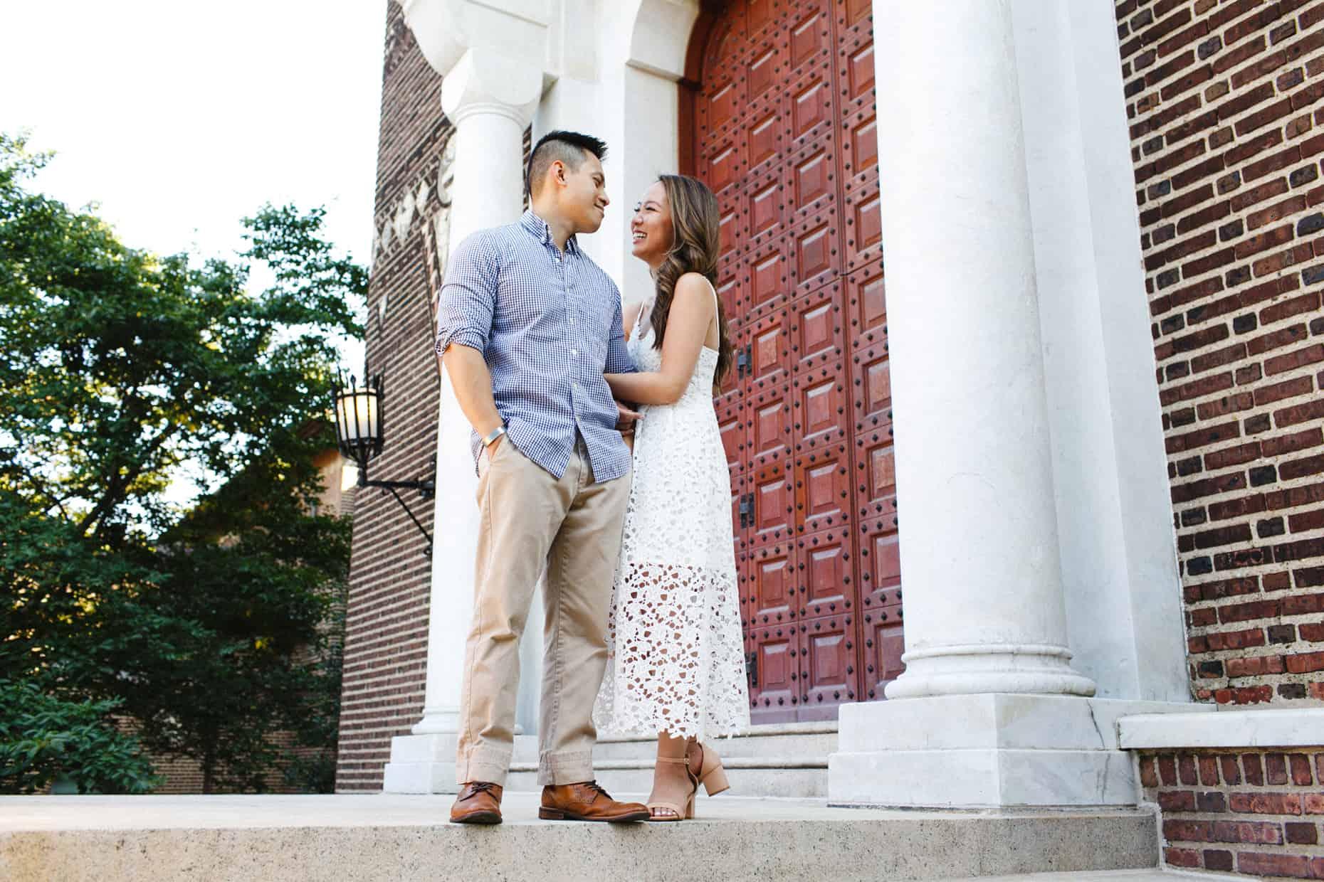 U Penn Engagement Photographer