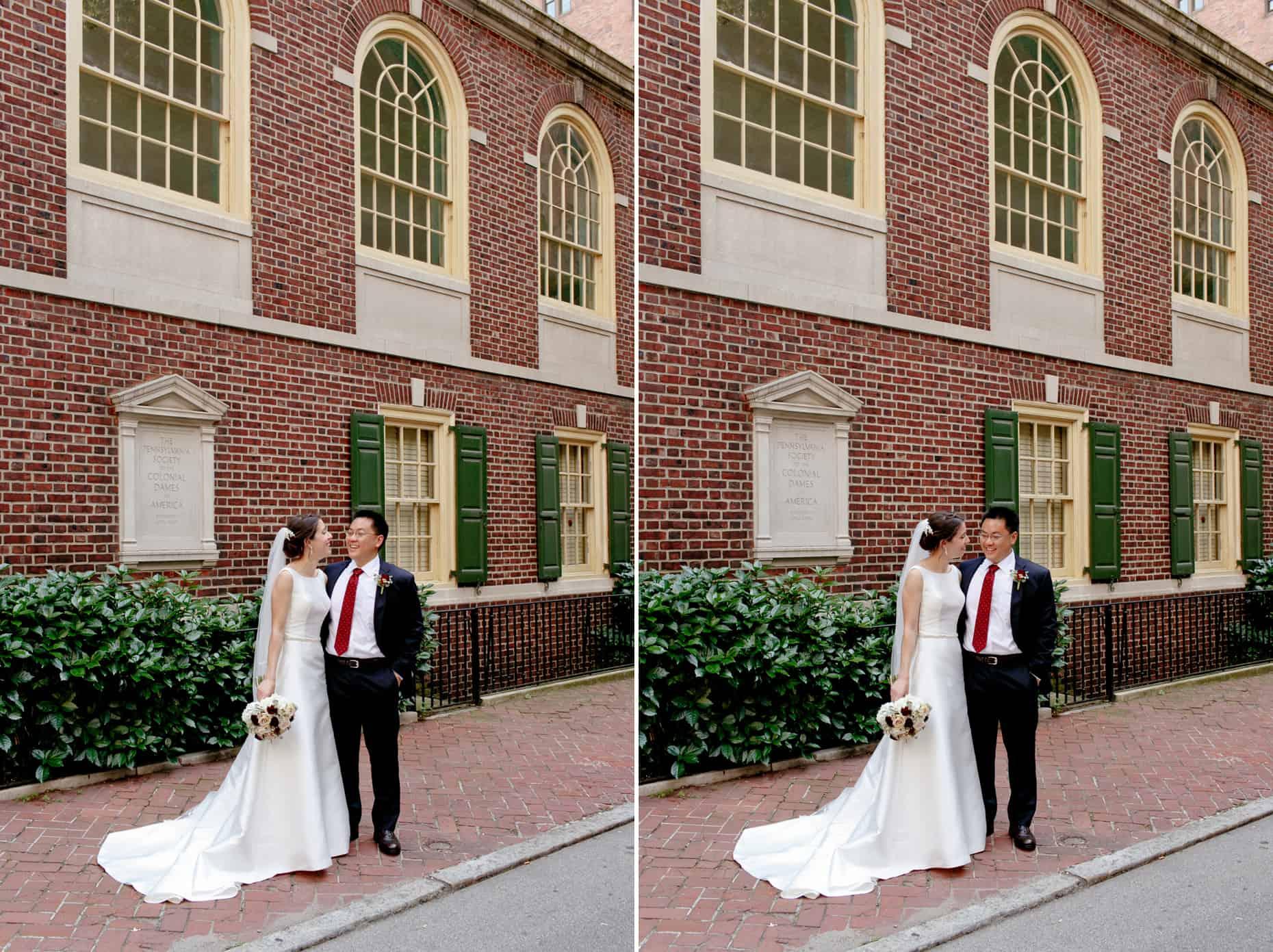 Wedding pictures Philadelphia Colonial Dames