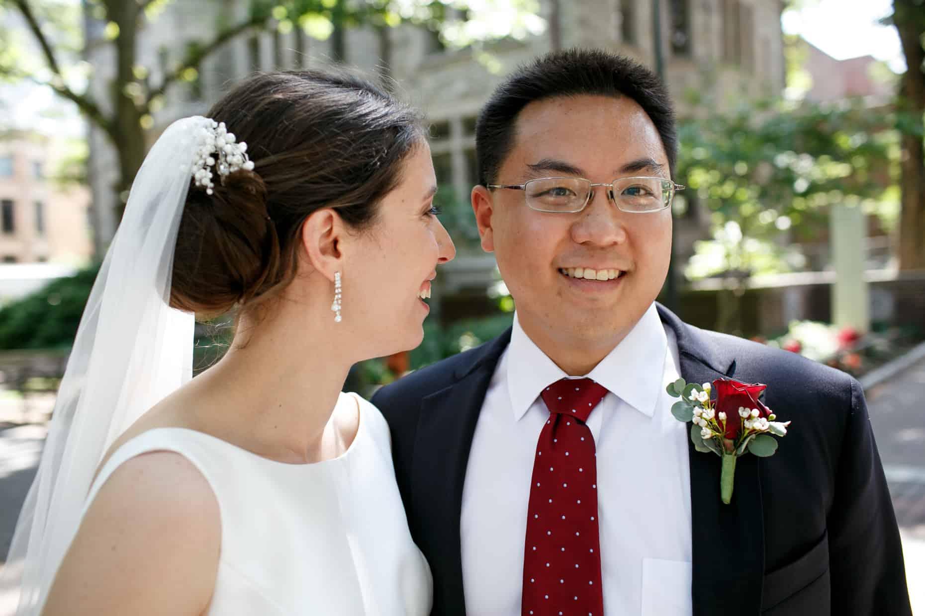 University of Penn Wedding Photo
