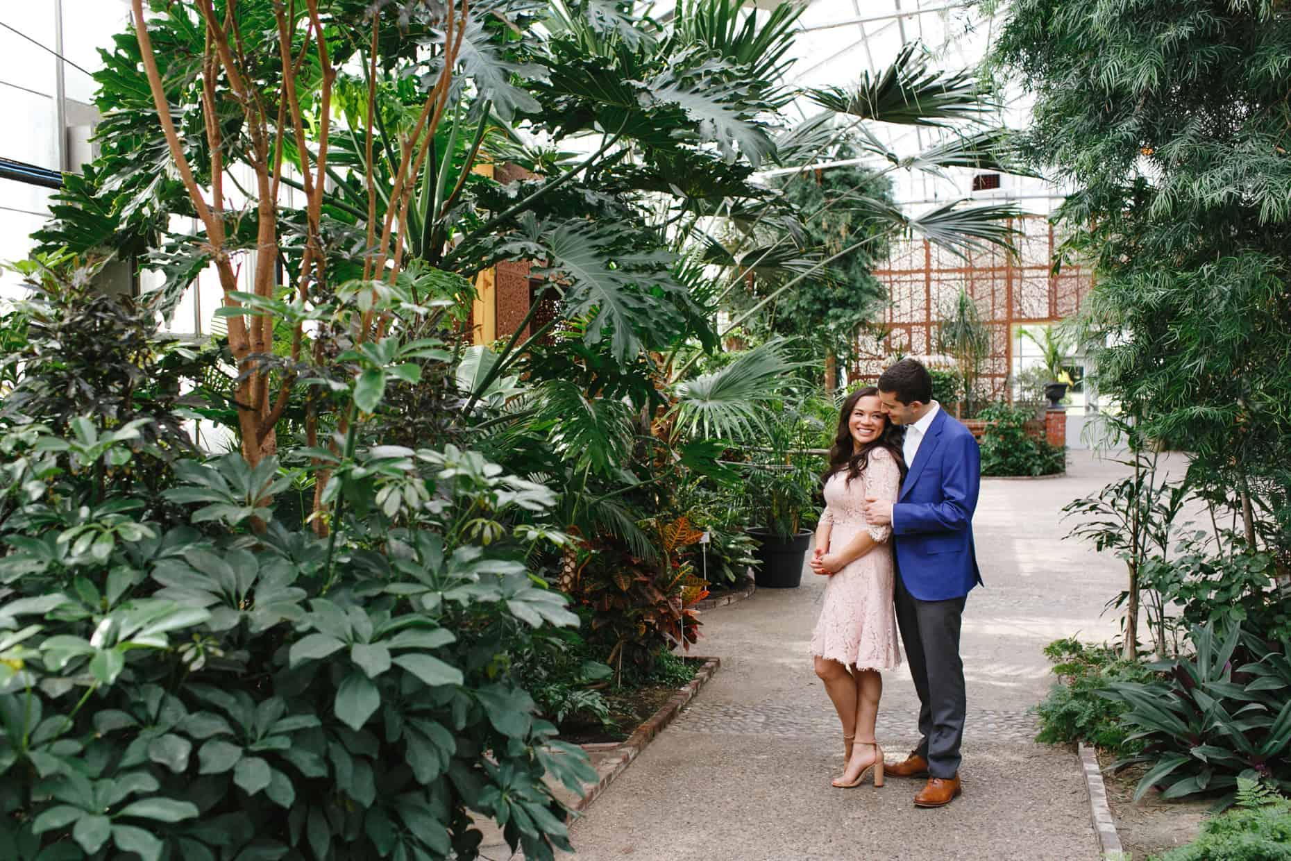 Fairmount Park Horticultural Center Engagement Photos