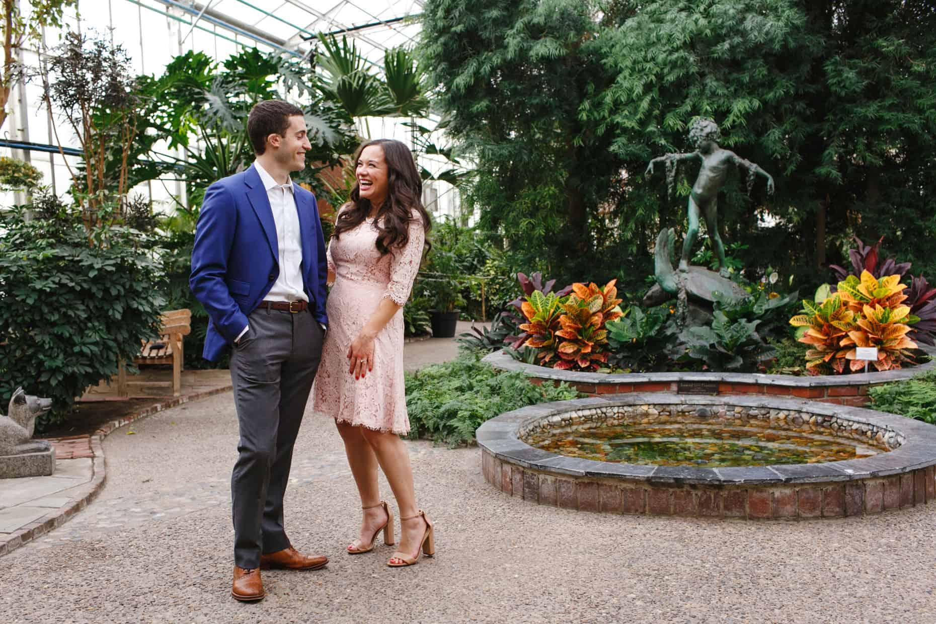 Fairmount Park Horticultural Center Engagement Pictures