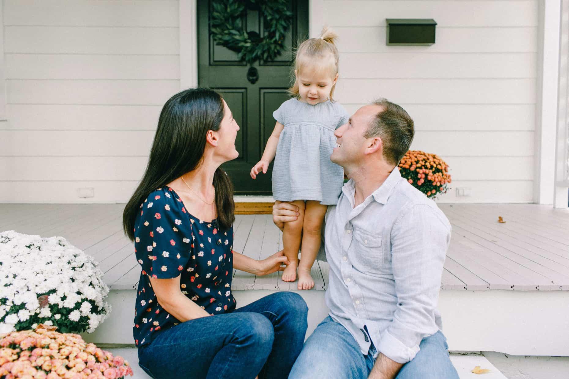 Back yard family photos