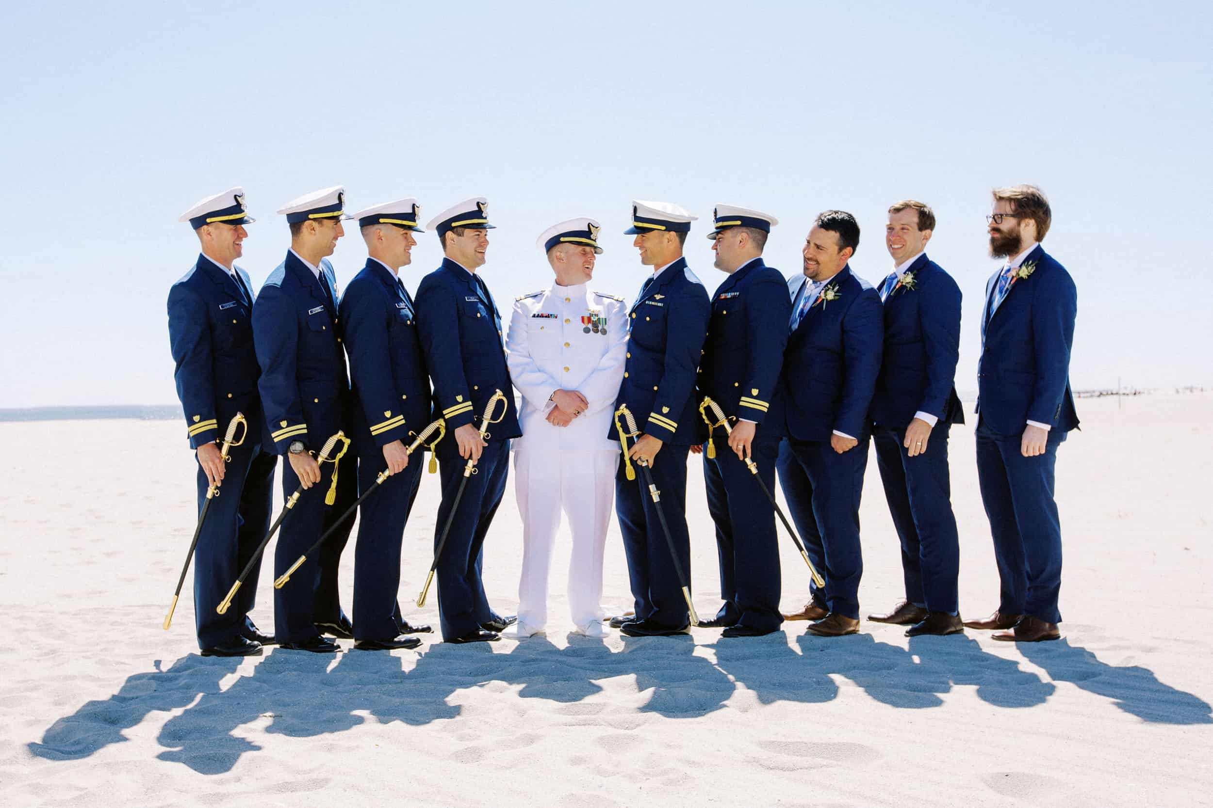Coast Guard Wedding in Cape Mayat Congress Hal