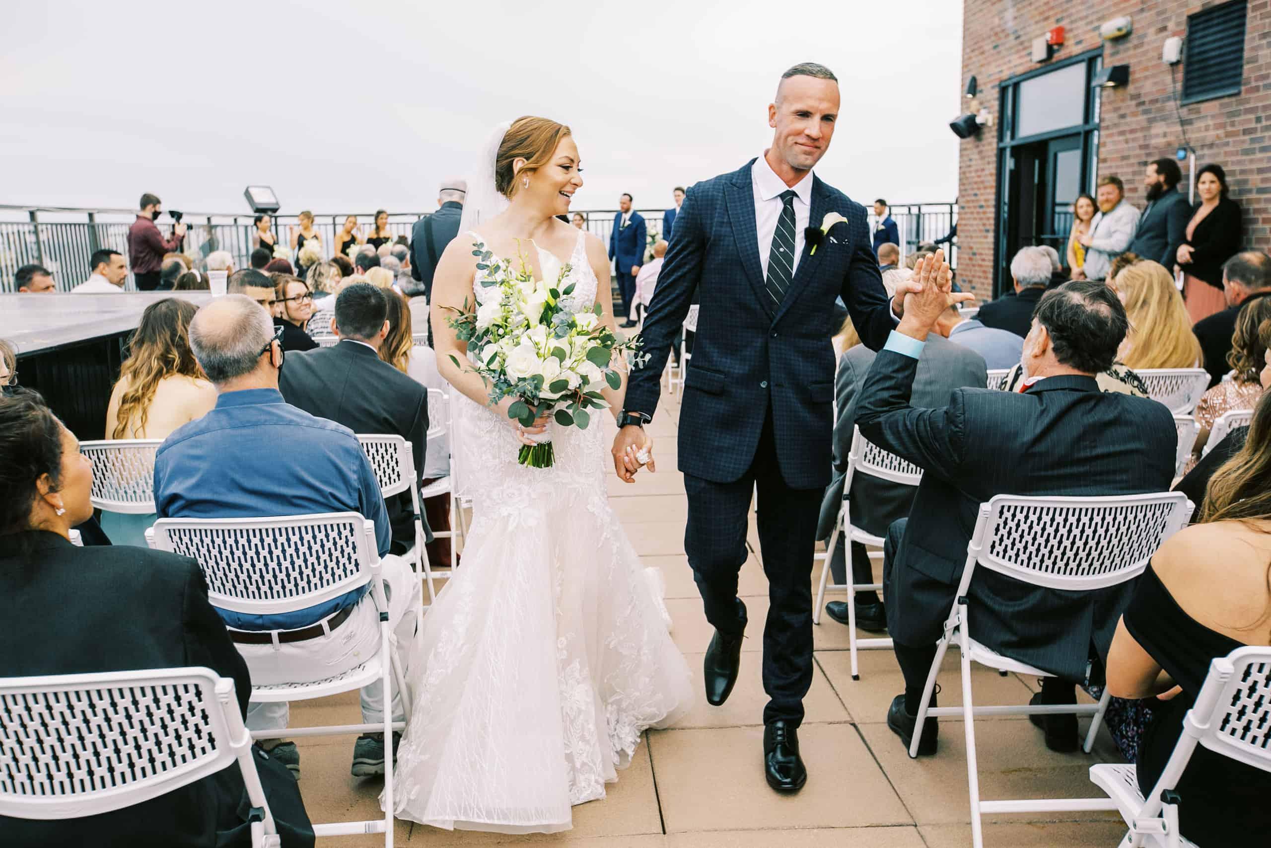 Outdoor wedding in Atlantic City