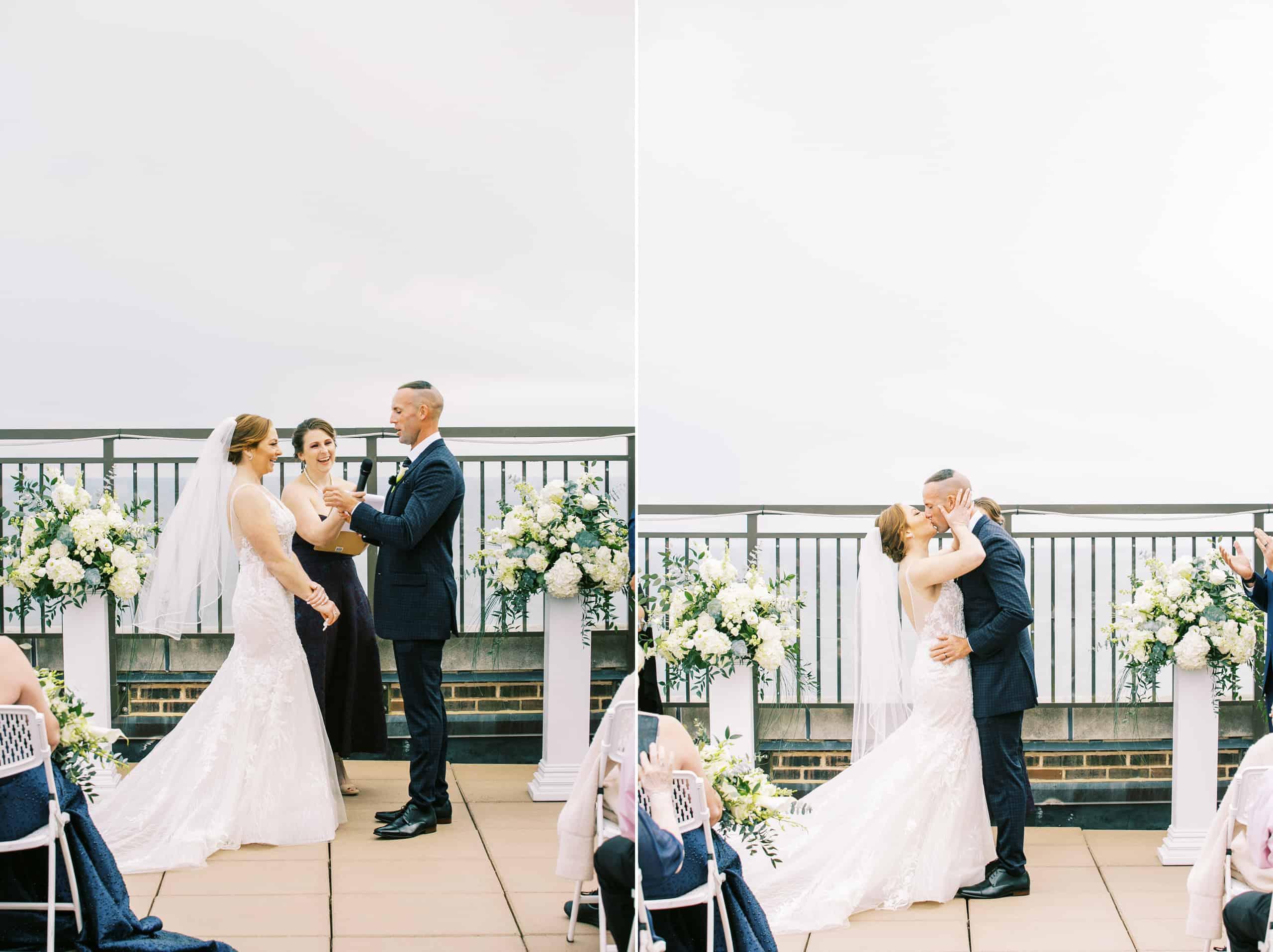 Wedding overlooking the ocean in Atlantic City