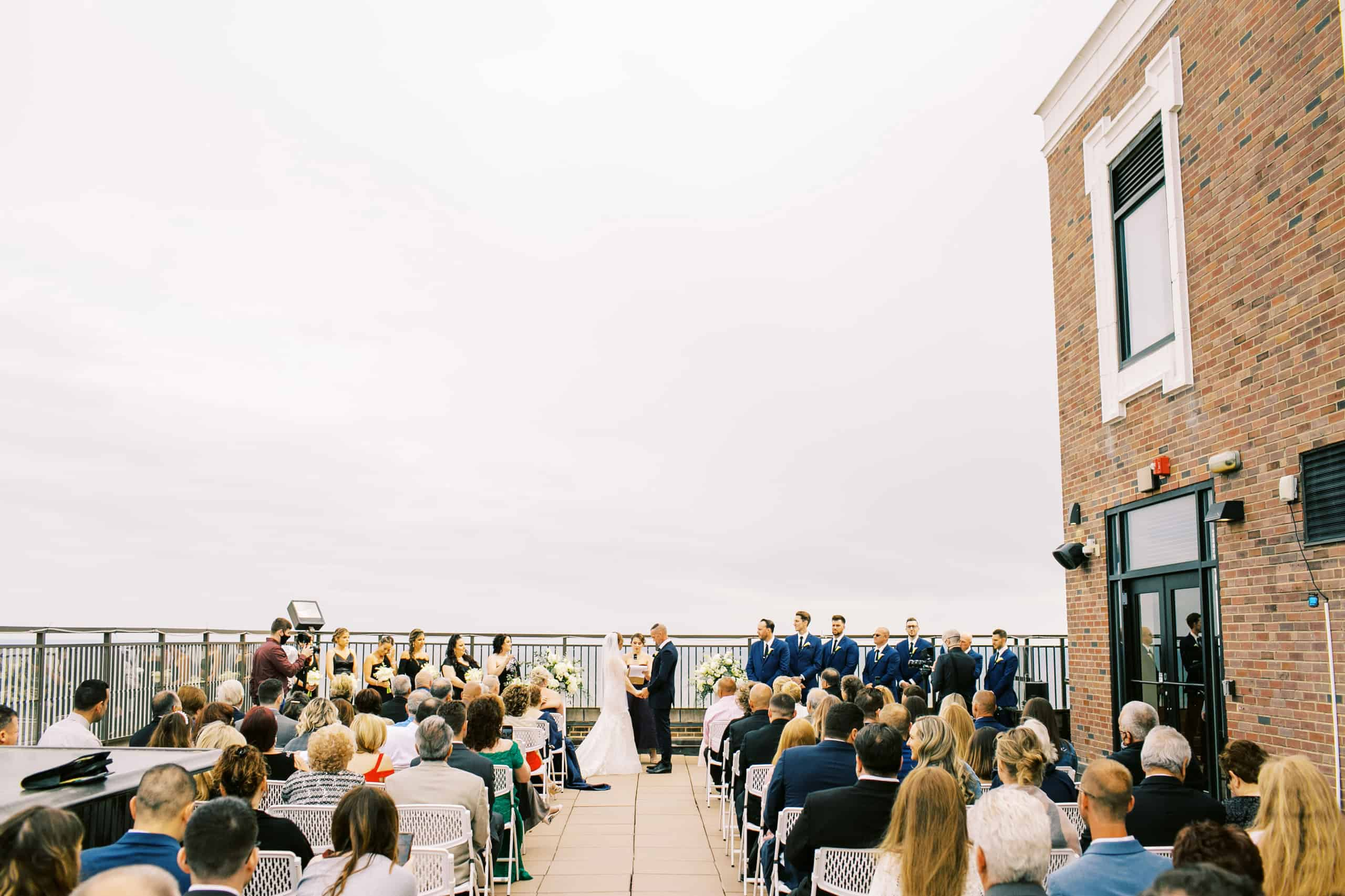 Rooftop wedding at Claridge Hotel in Atlantic City