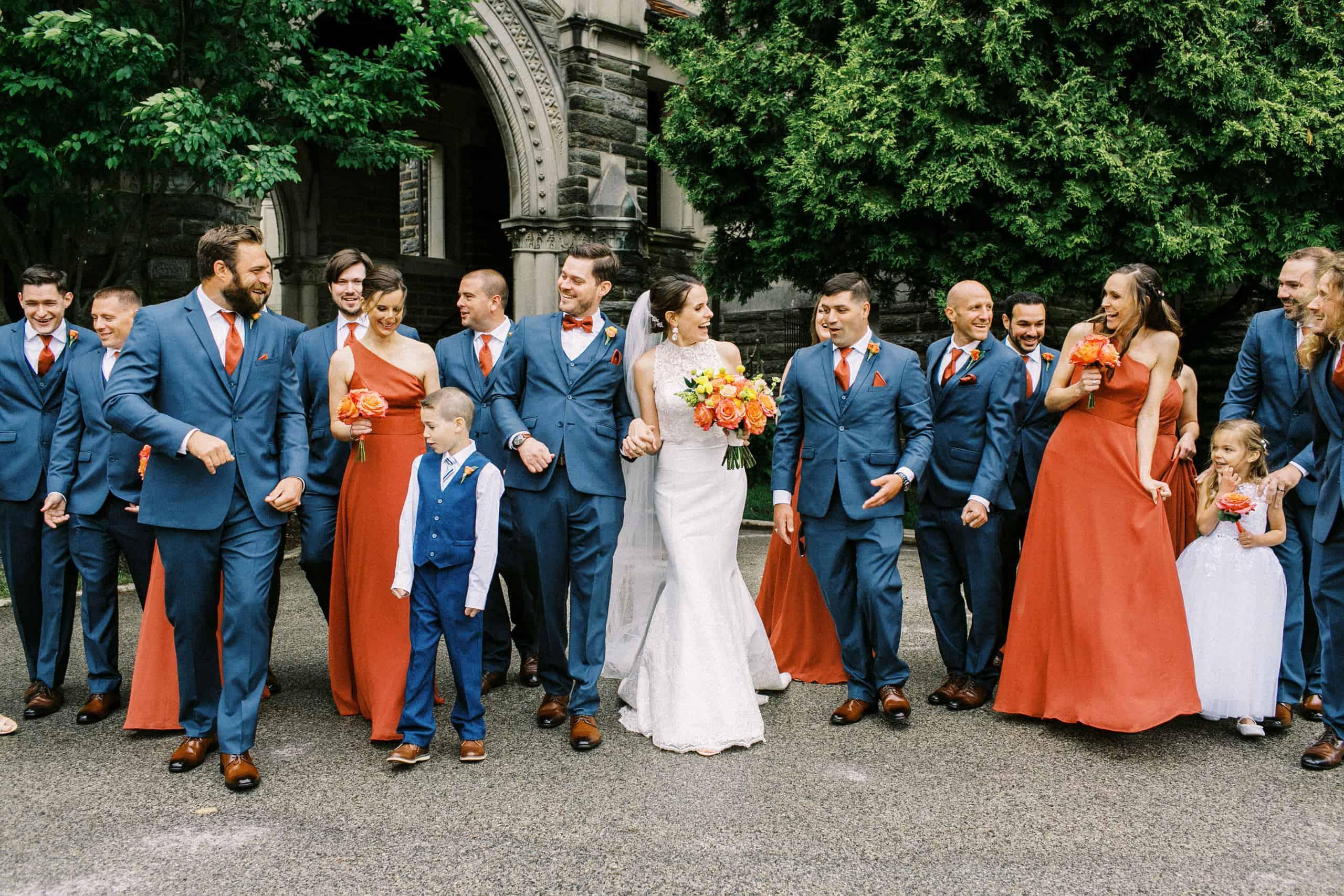 Chestnut Hill Philadelphia wedding Party