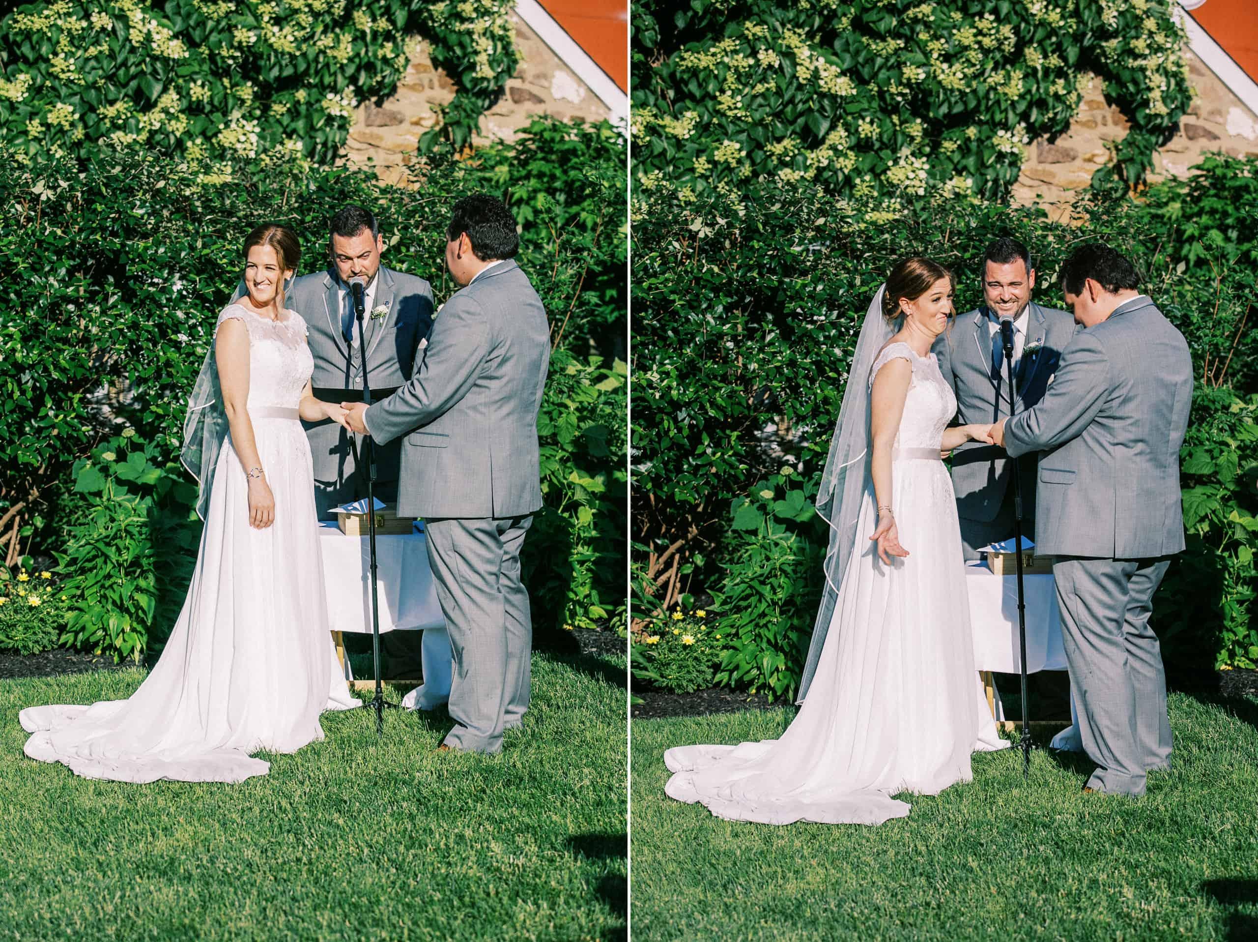 Old York Road wedding ceremony
