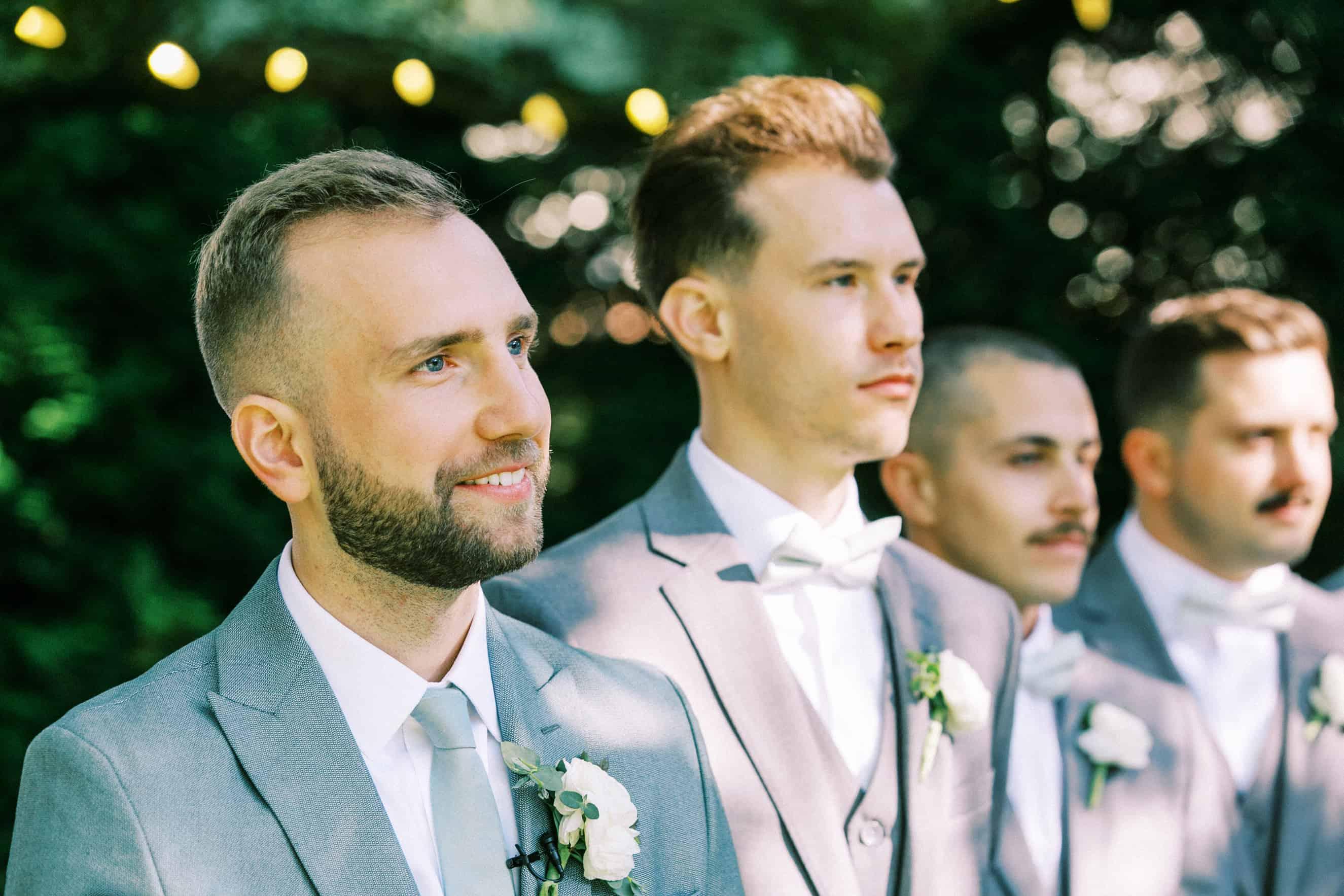 outdoor wedding ceremony at aldie mansion