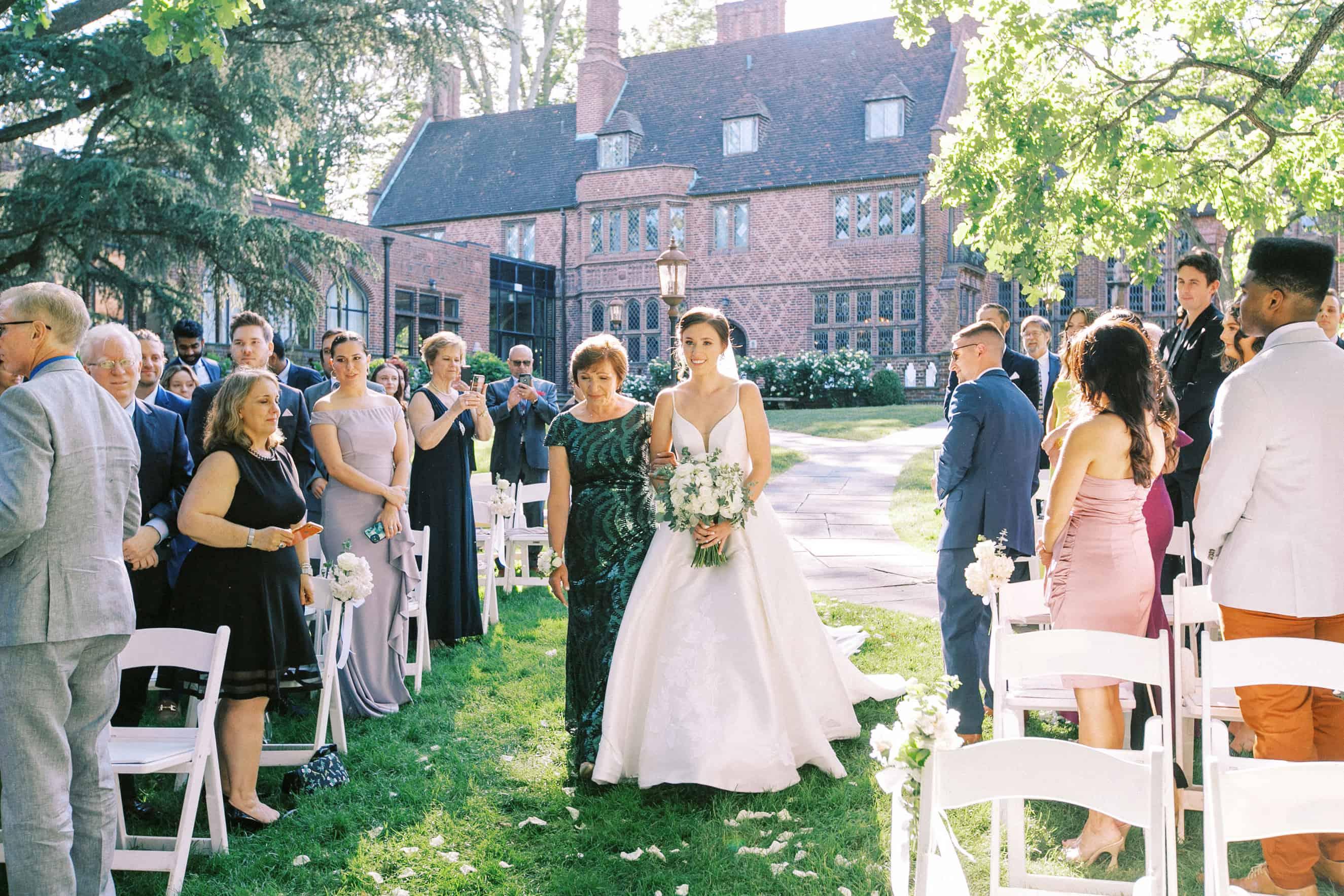 outdoor weddings at aldie mansion