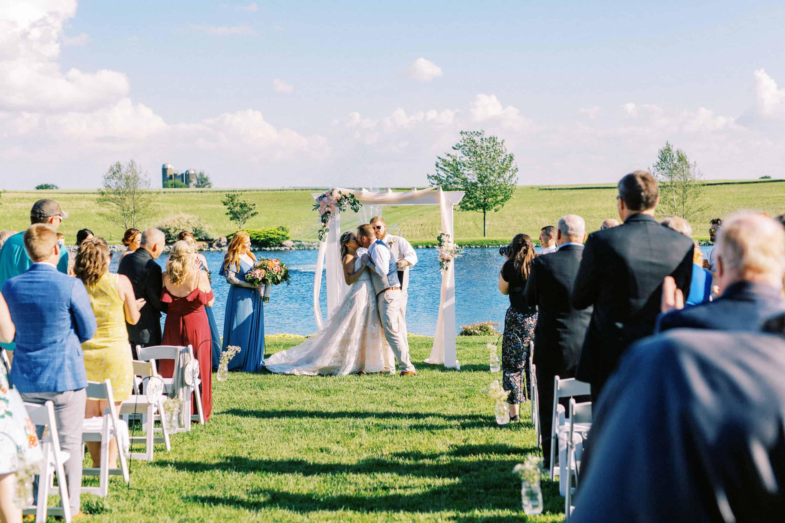 Outdoor wedding ceremonies Harvest View Barn at Hershey Farms
