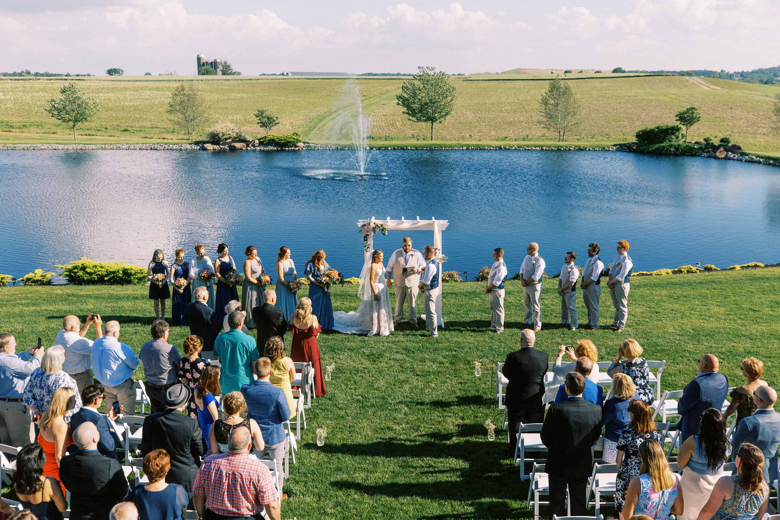 Harvest View Barn at Hershey Farms Wedding Ceremony Sites