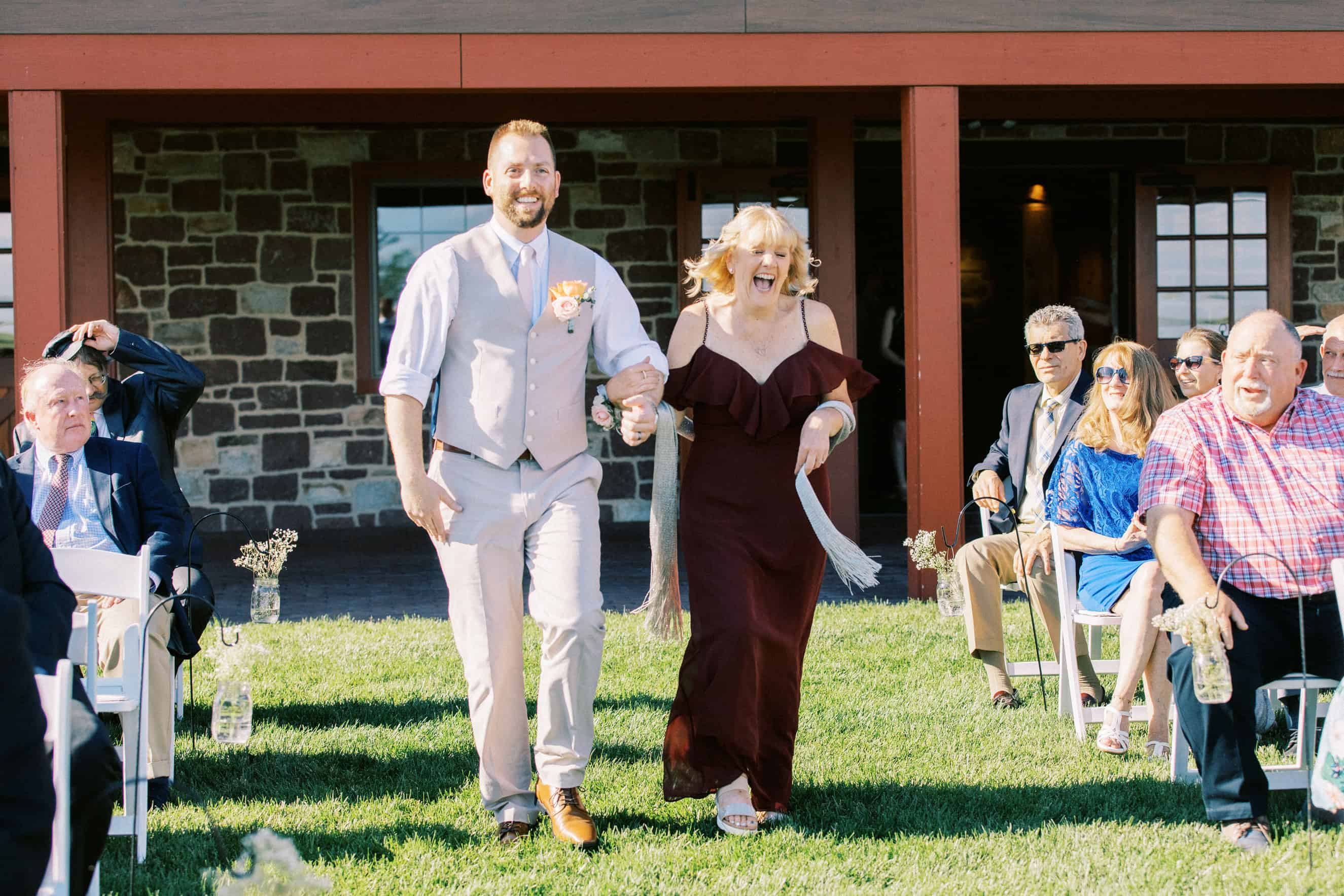 Wedding Ceremony Harvest View Barn at Hershey Farms