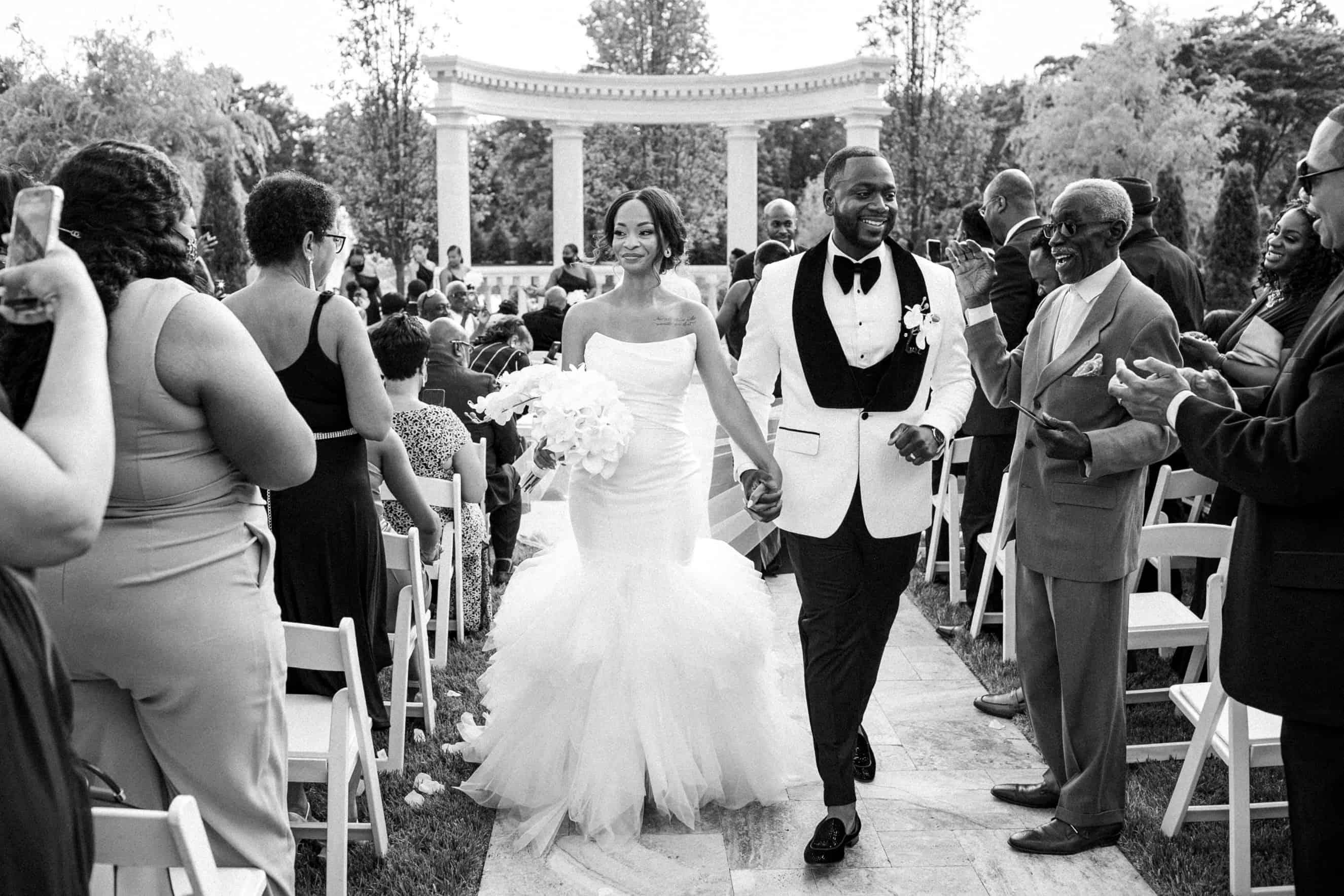 Outdoor Wedding Ceremony Mansion on Main Street