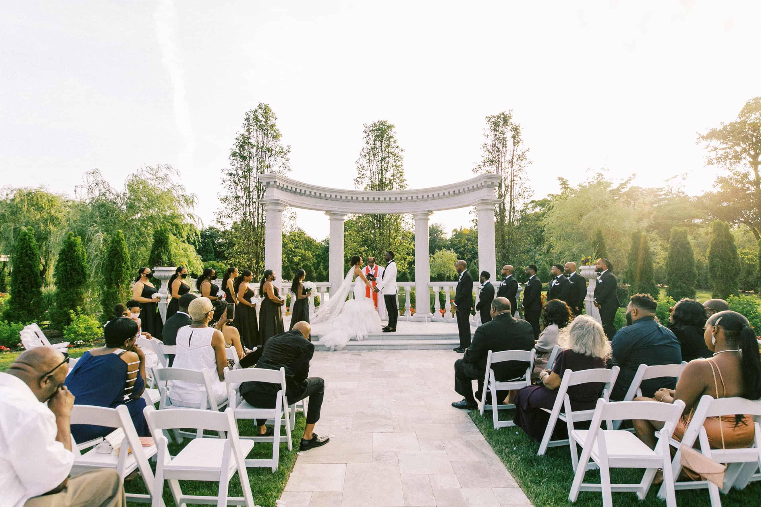 Outdoor Wedding Ceremony Location Philadelphia