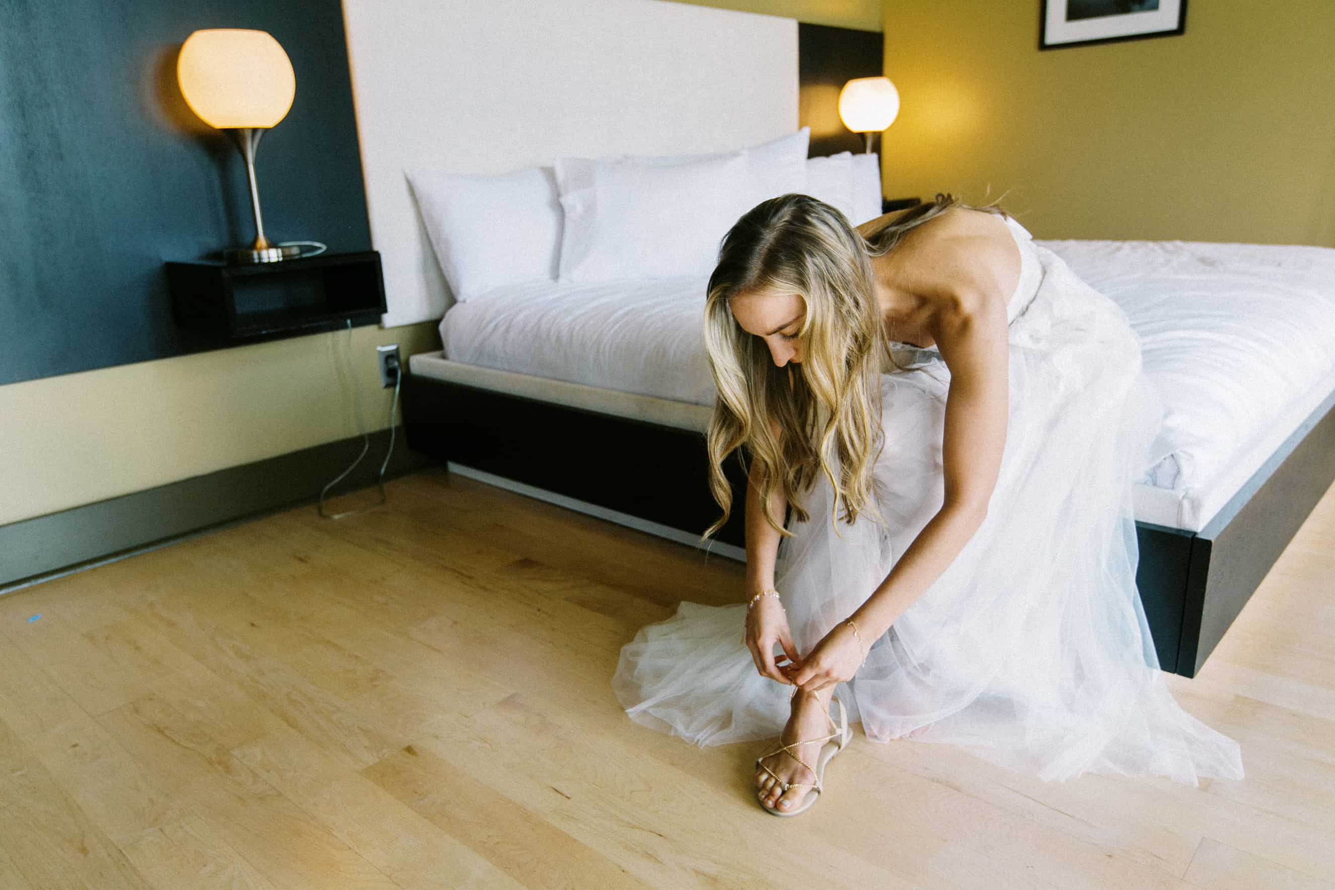 Bride Gets Ready at The Lake House Inn