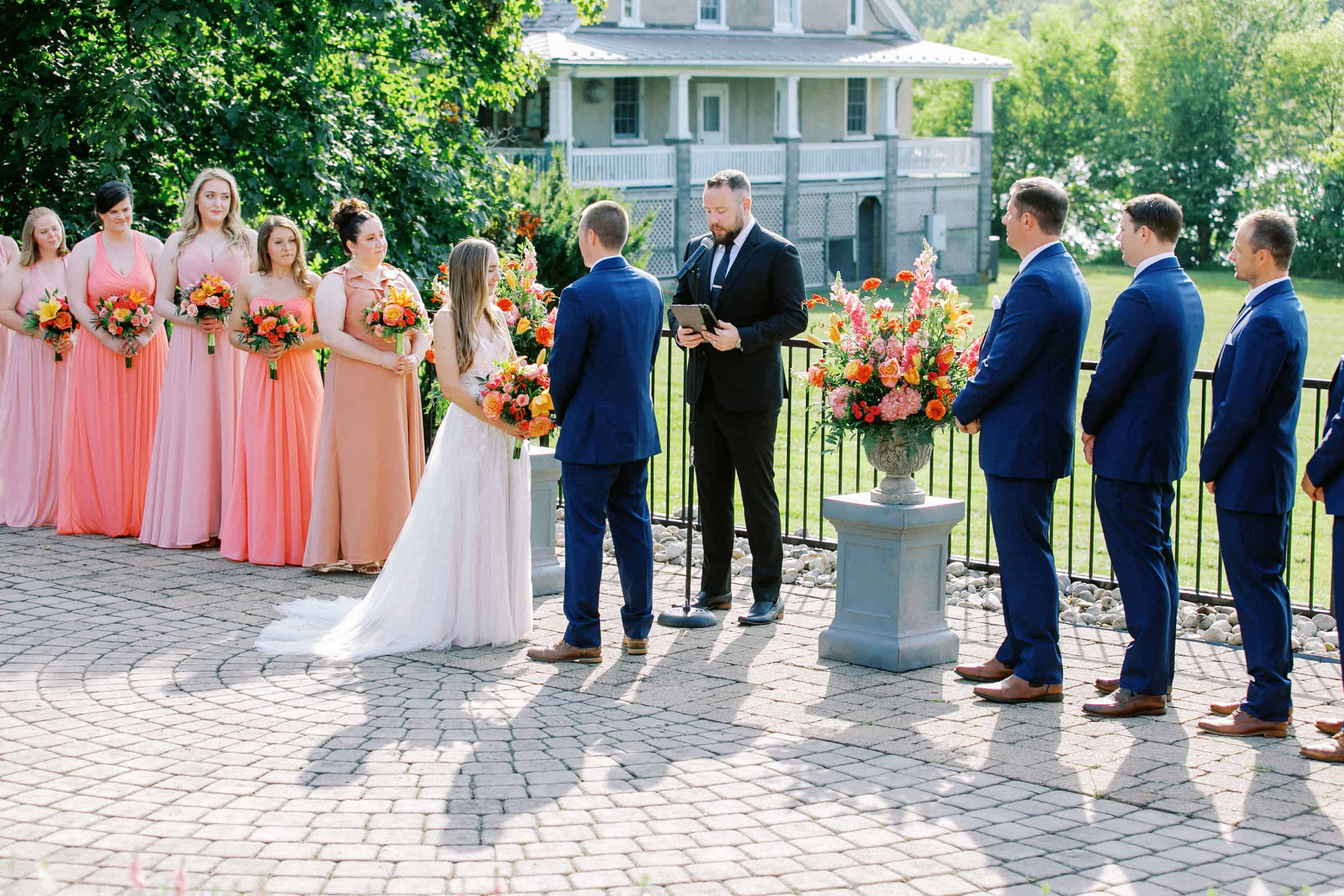 Wedding Ceremony Outdoors at The Lake House Inn