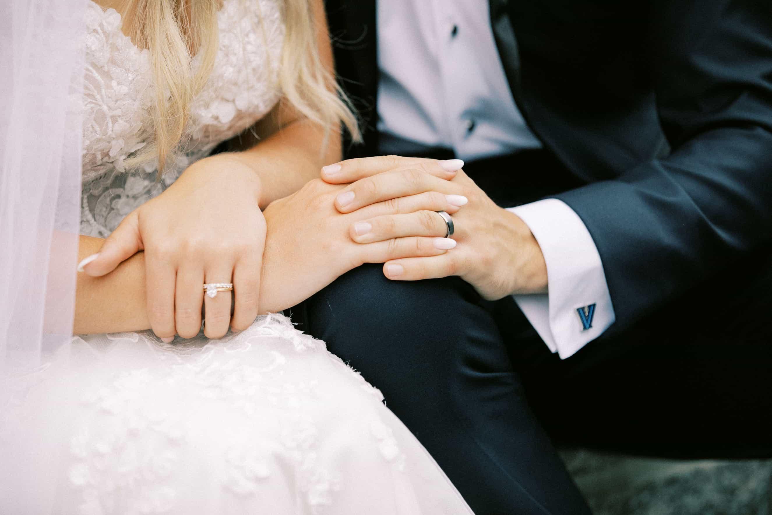 Wedding photos on campus at Villanova