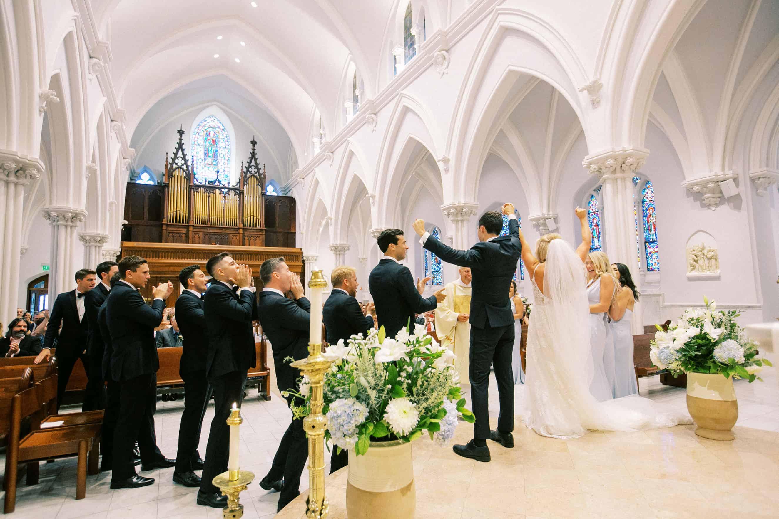 First Kiss Villanova Weddings