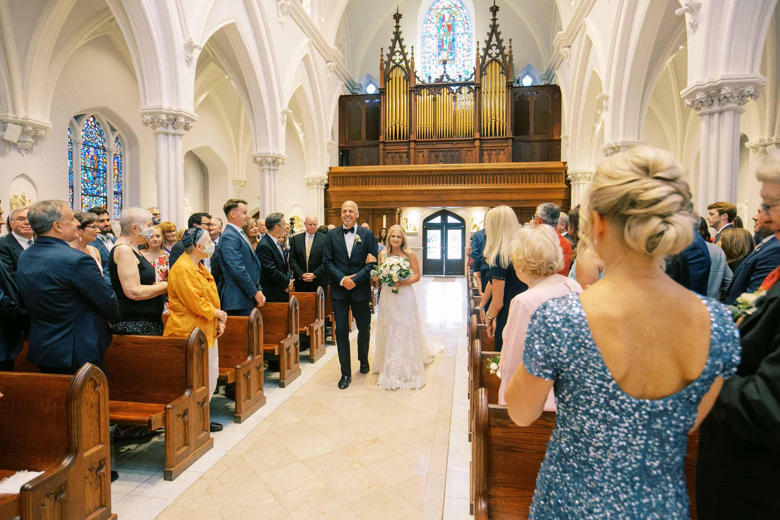 Wedding ceremony Villanova Chapel