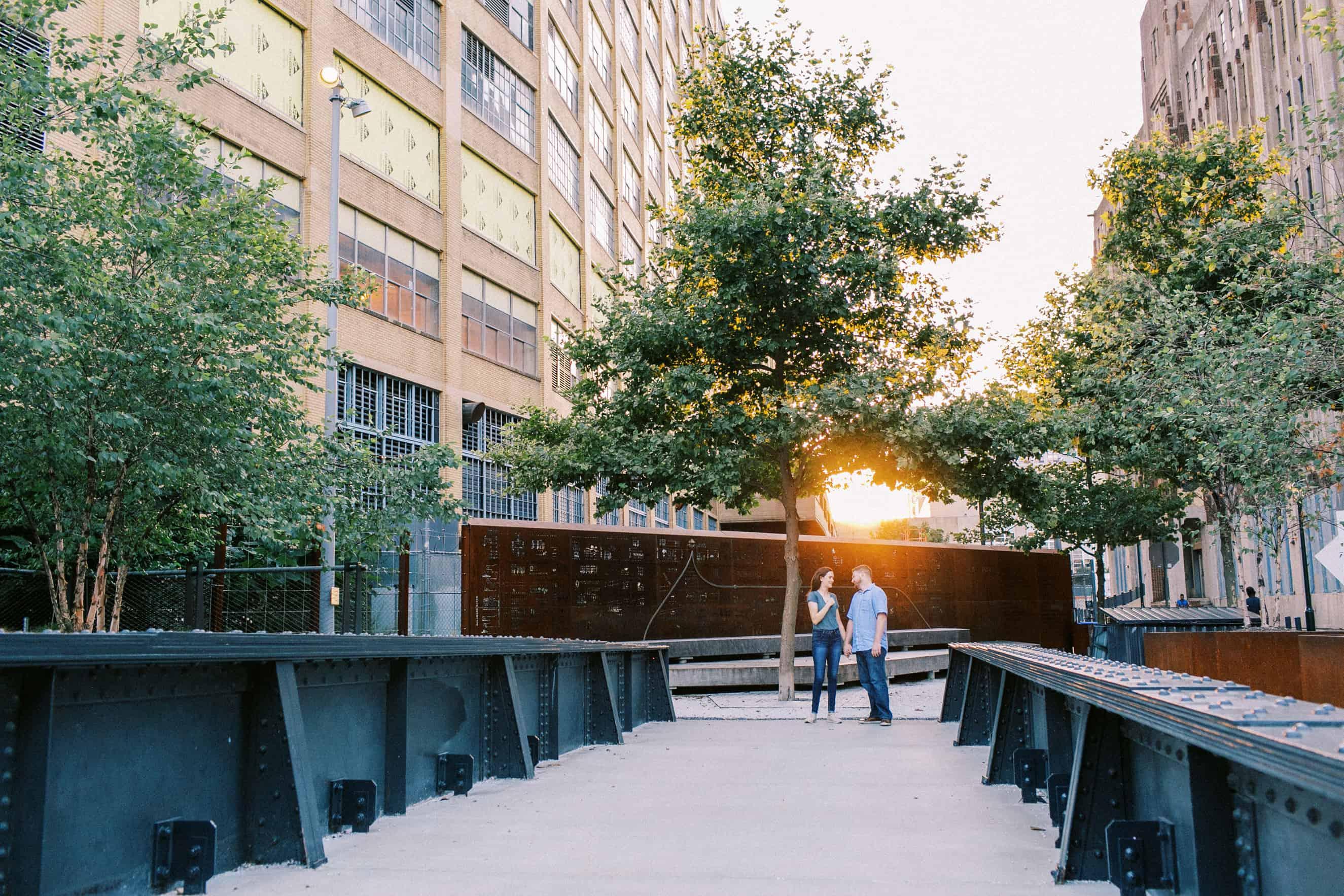 Rail Park Engagement Photos in Philadelphia