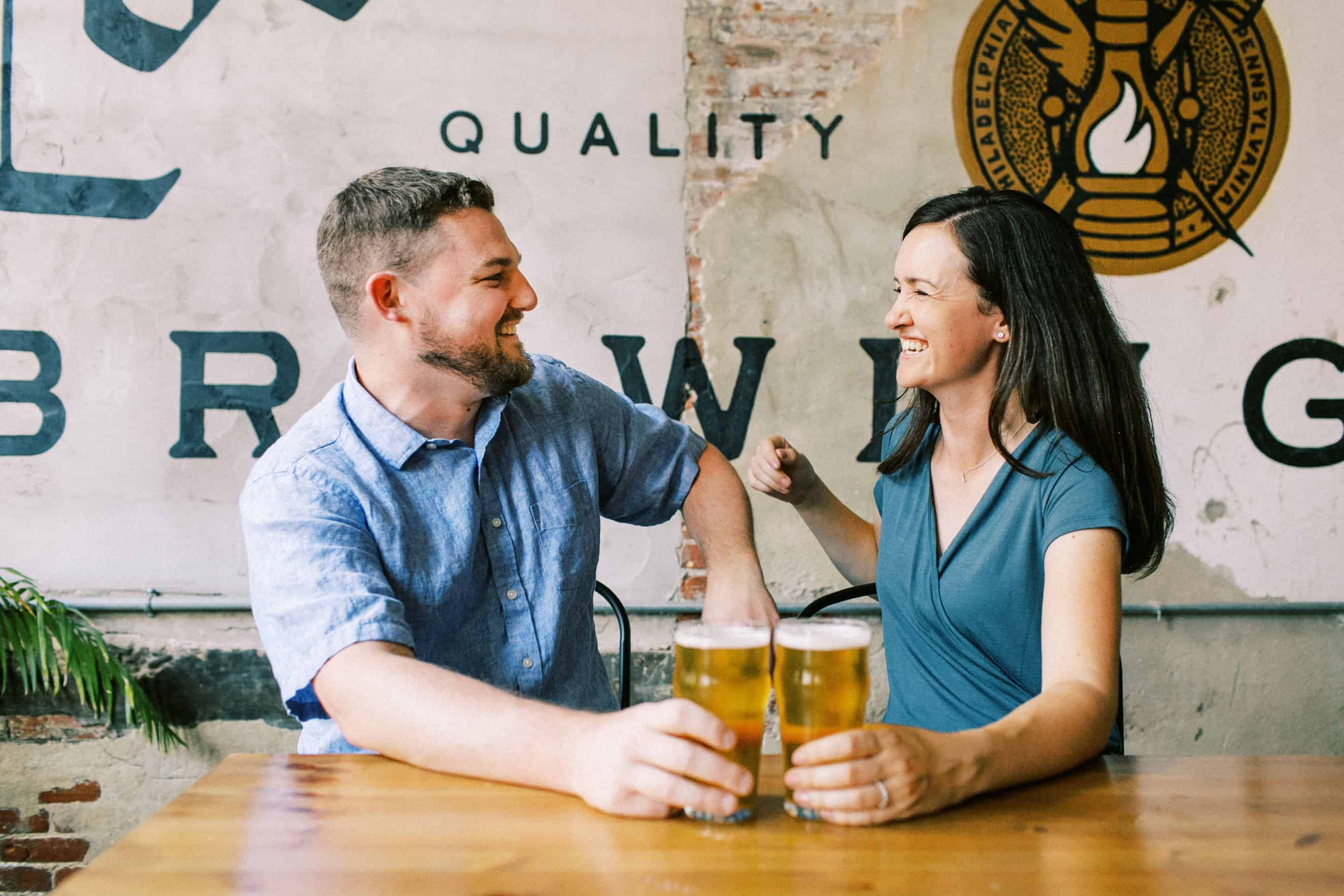 Love City Brewing Engagement Photographers