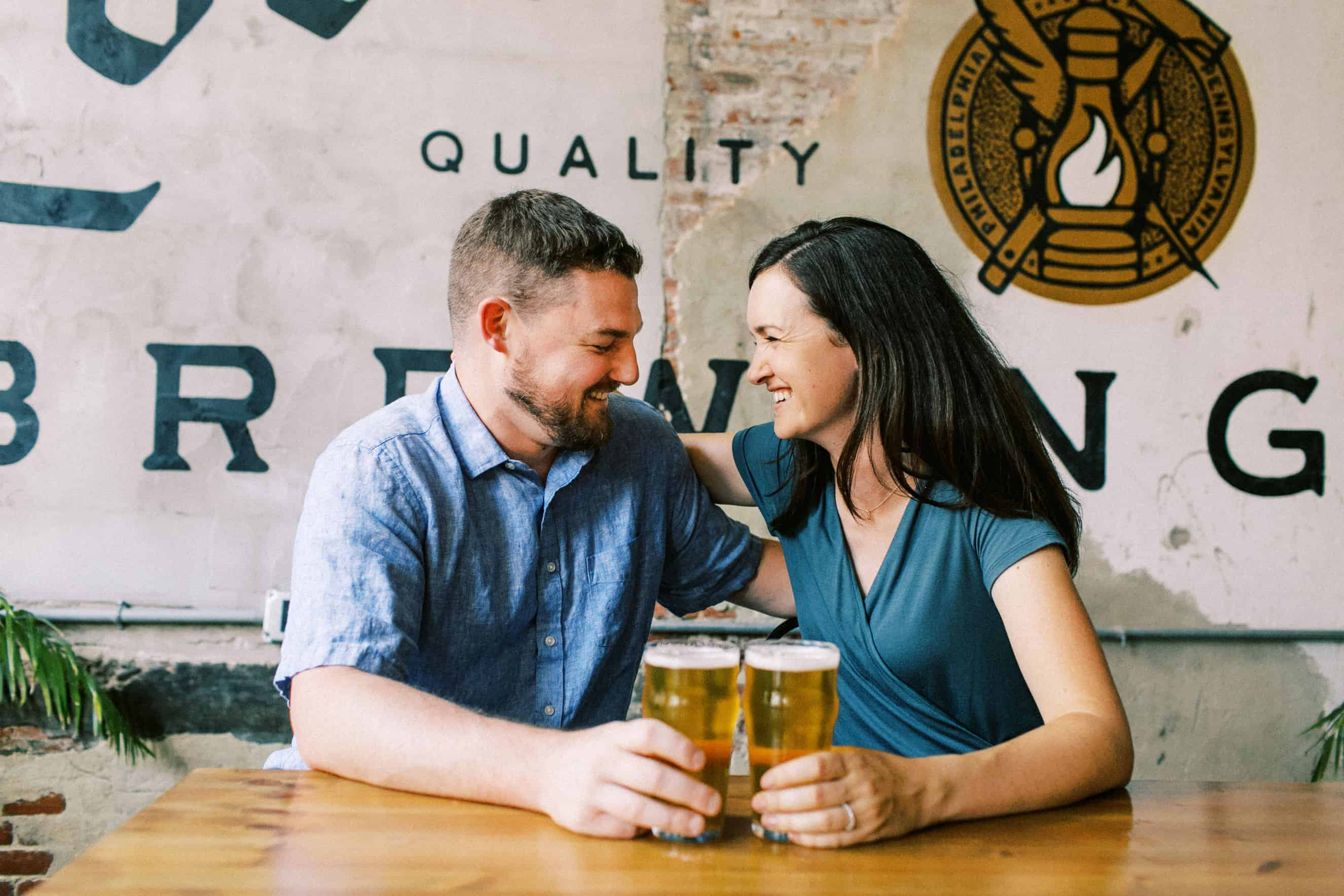 Love City Brewing Engagement Photographer