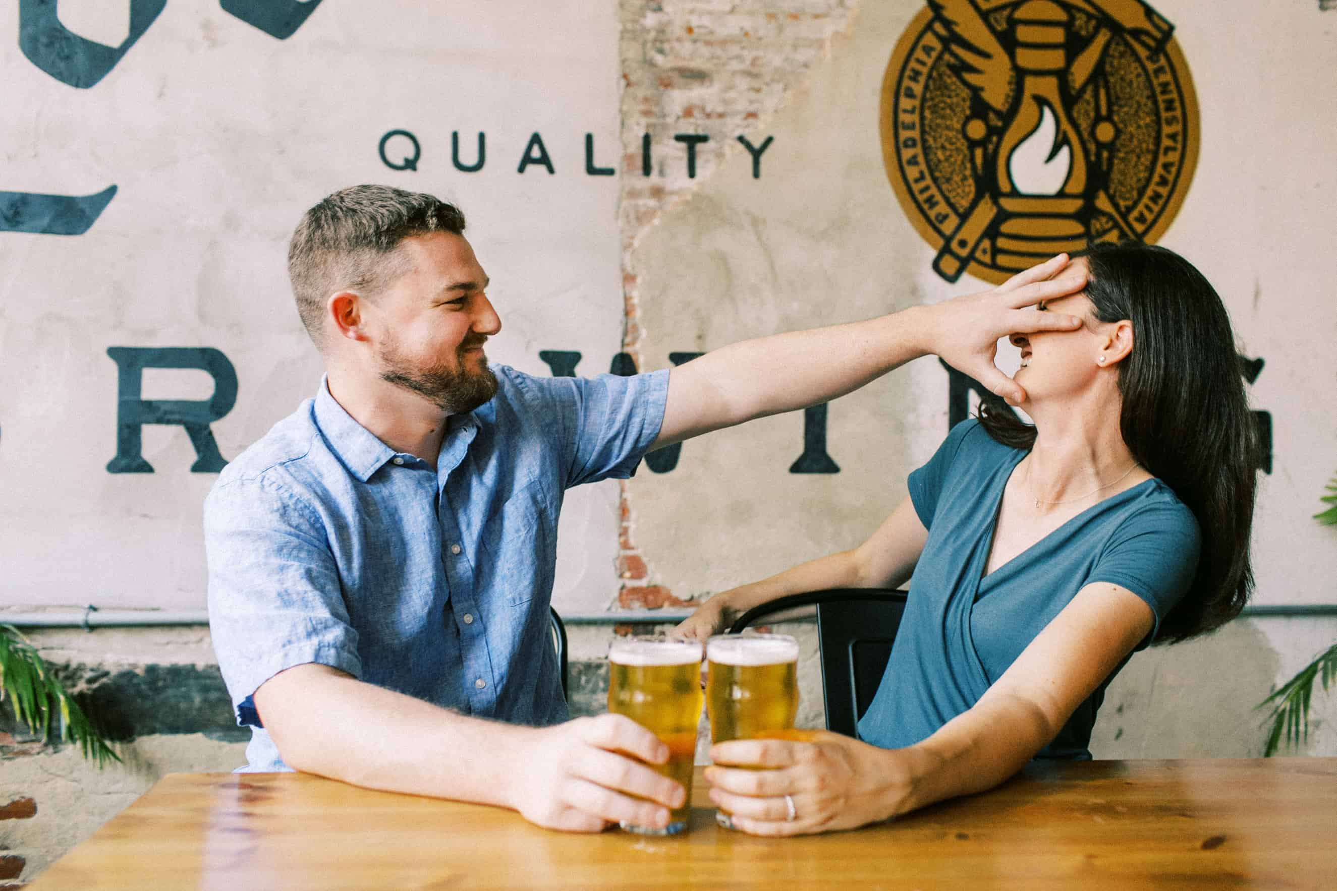 Love City Brewing Engagement Photography