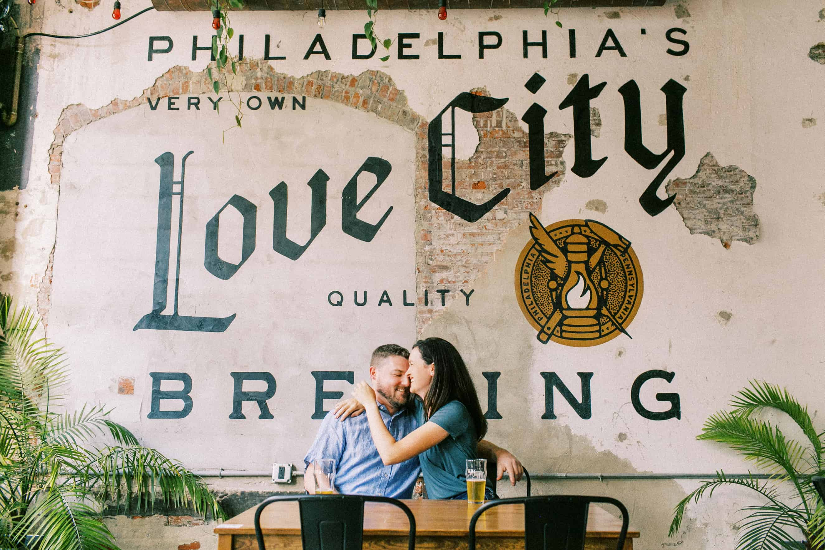 Love City Brewing Engagement Photos