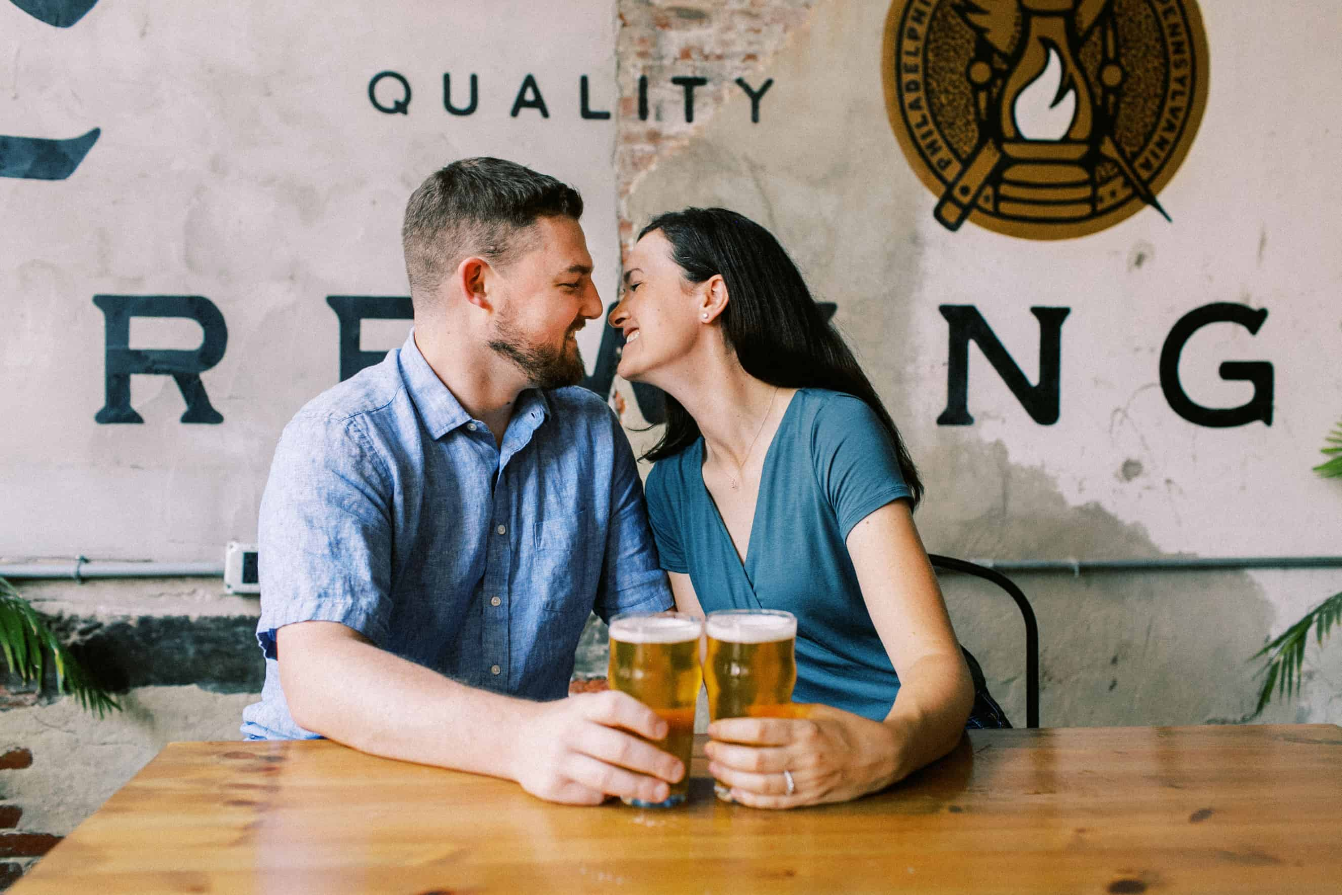 Love City Brewing Engagement Sessions