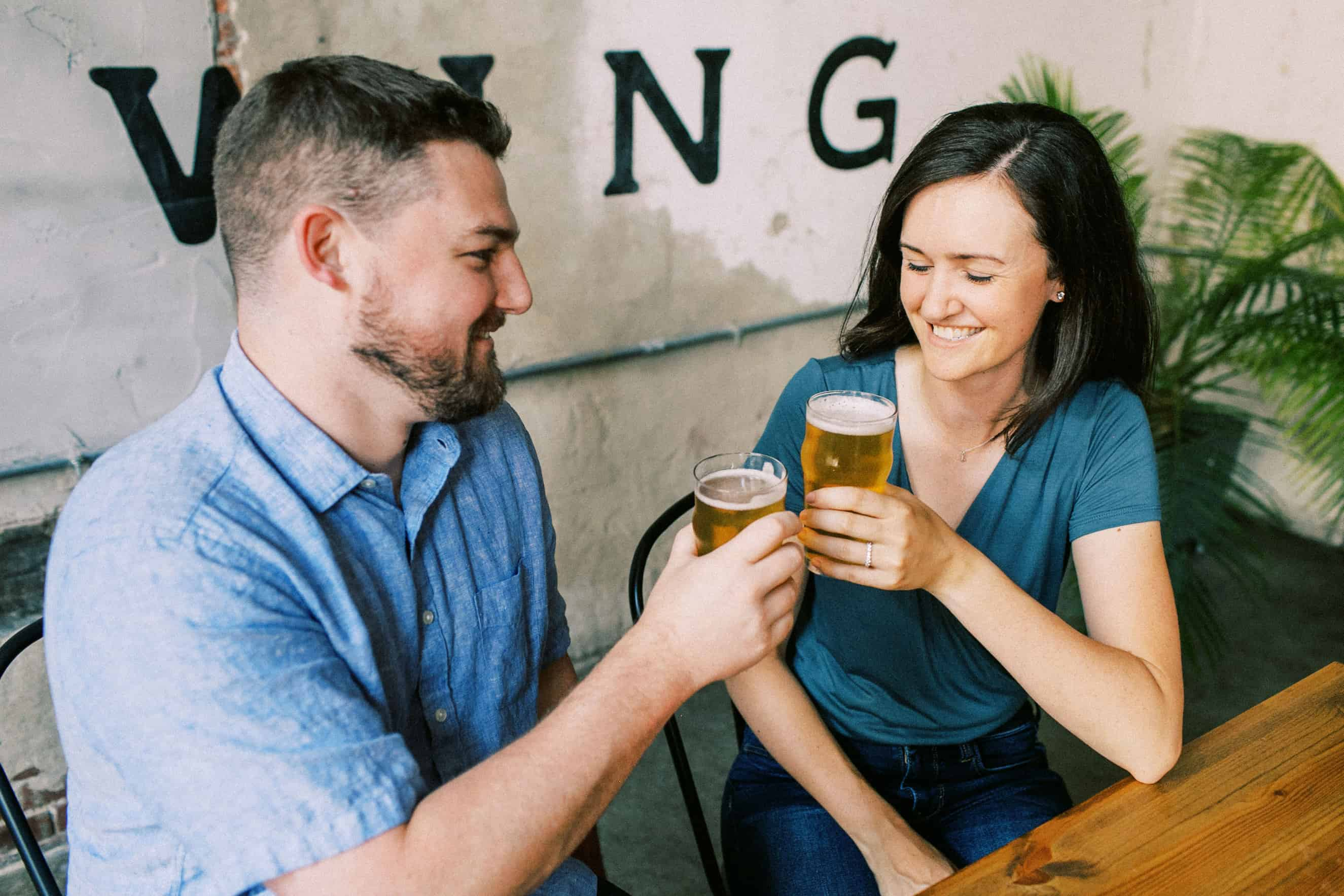 Love City Brewing Engagement Session